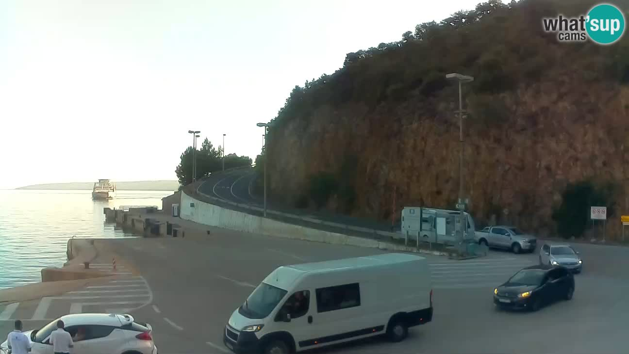 Webkam otok Cres – Trajektna luka  Merag – Krk