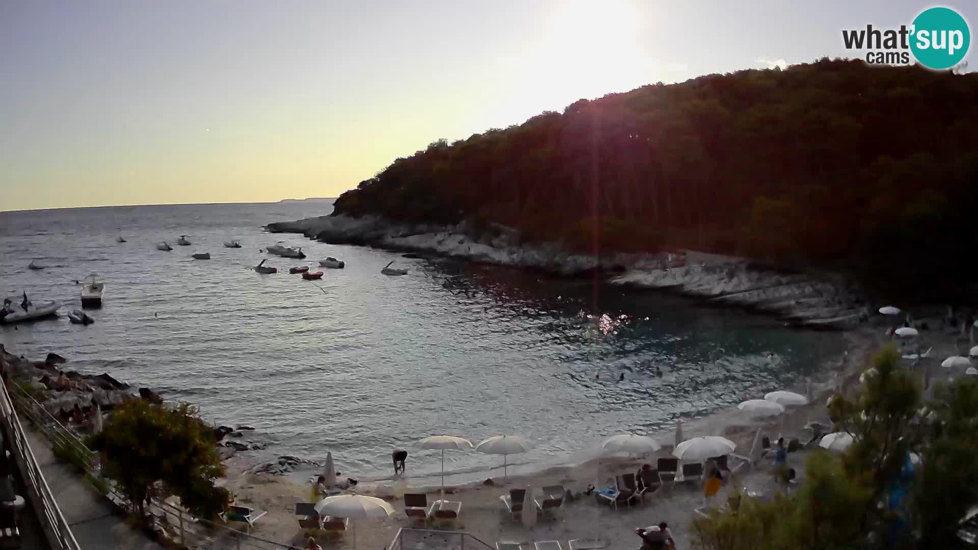 Webcam Mali Lošinj – playa Sunčana uvala – Veli Žal