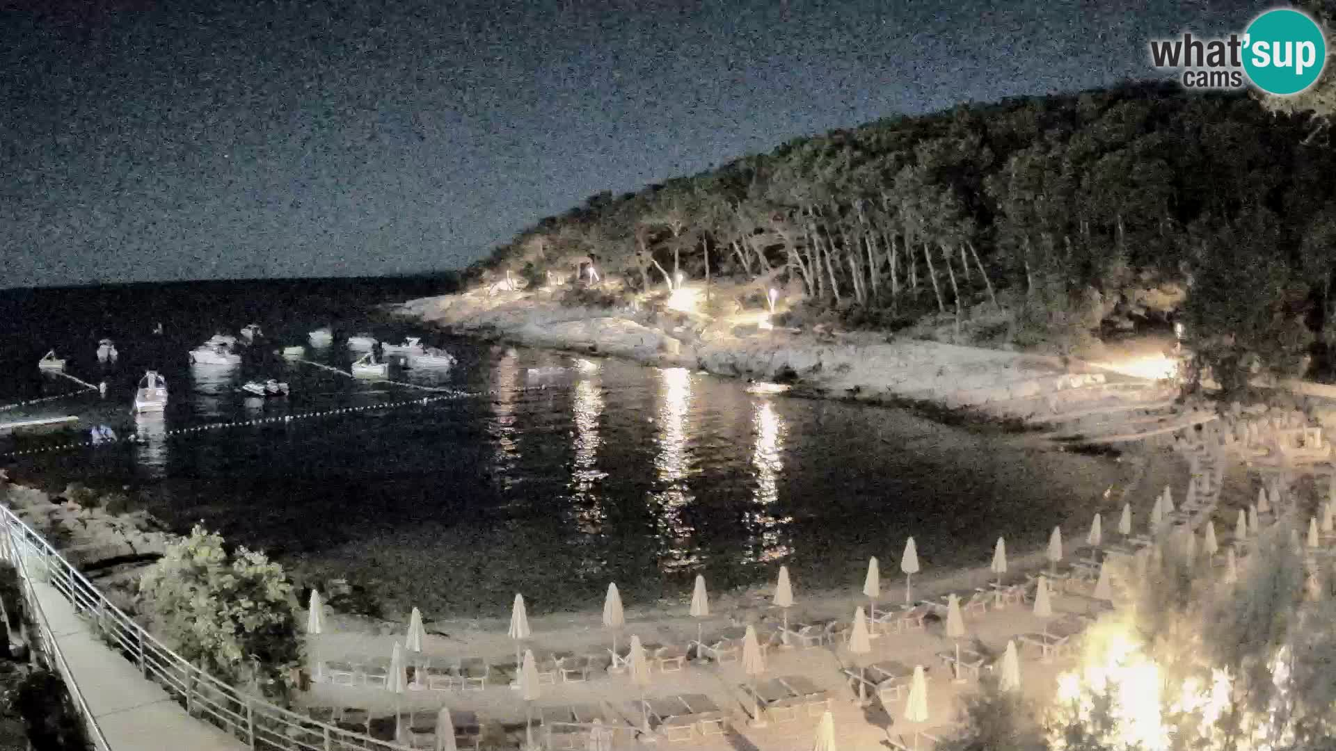 Webcam Mali Lošinj – plage Sunčana uvala – Veli Žal