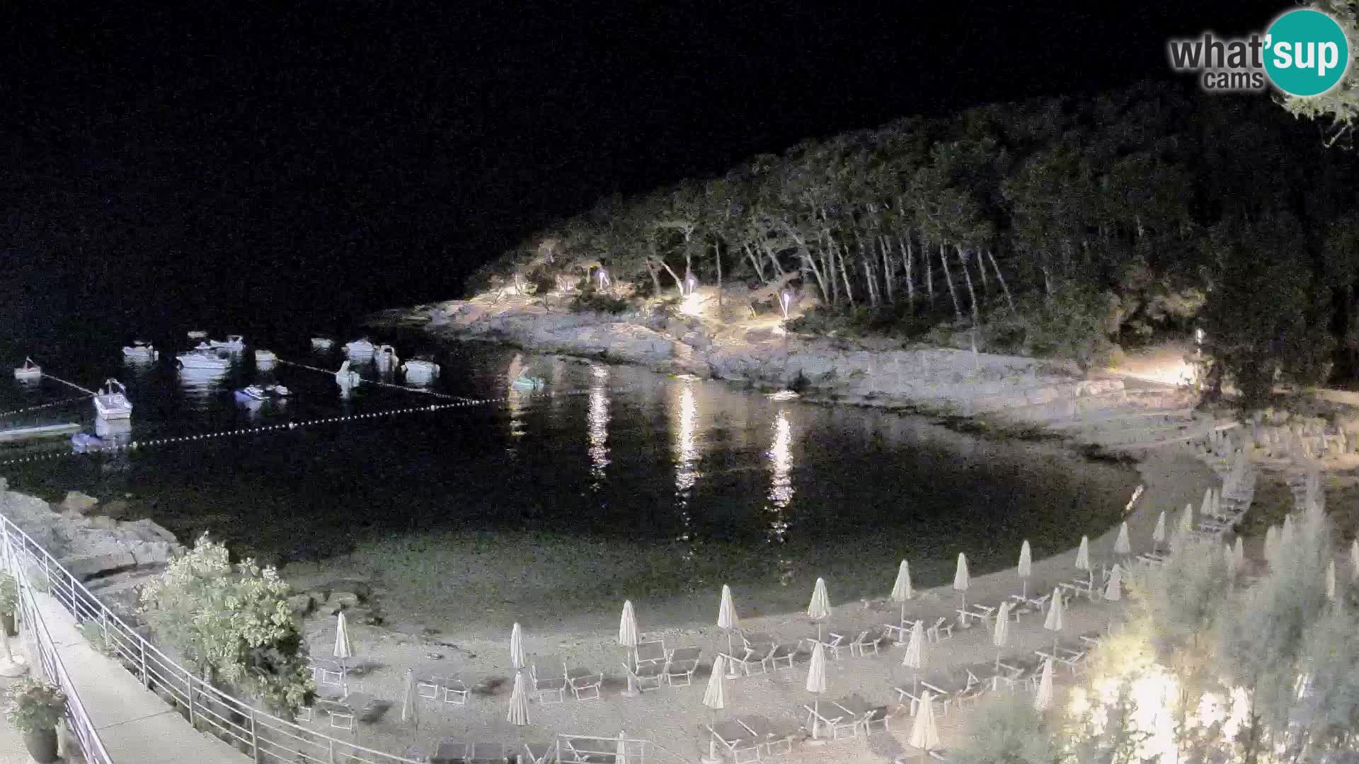Webcam Mali Lošinj – Sunčana uvala beach – Veli Žal