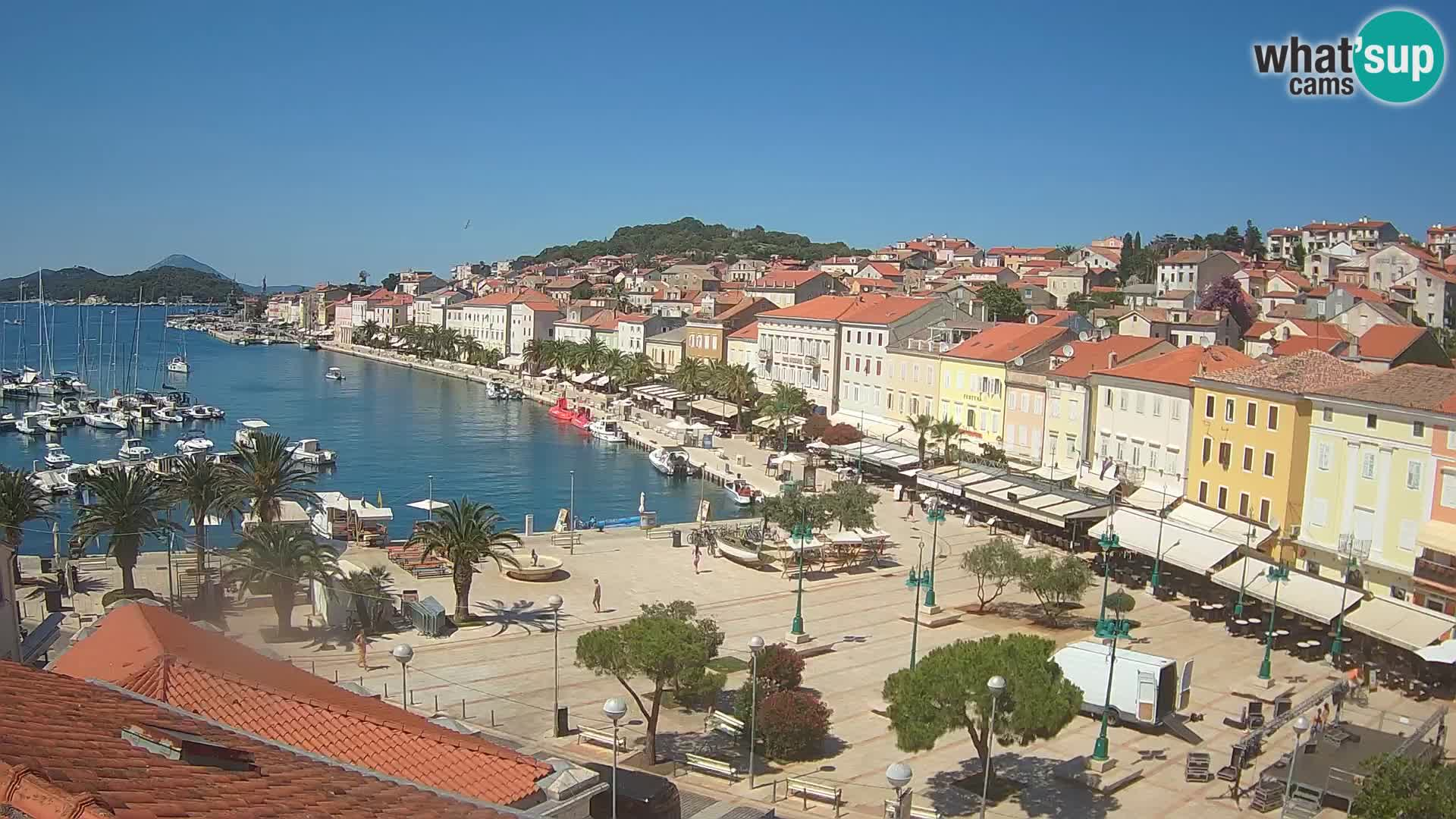 Webcam live Lussinpiccolo – Piazza principale