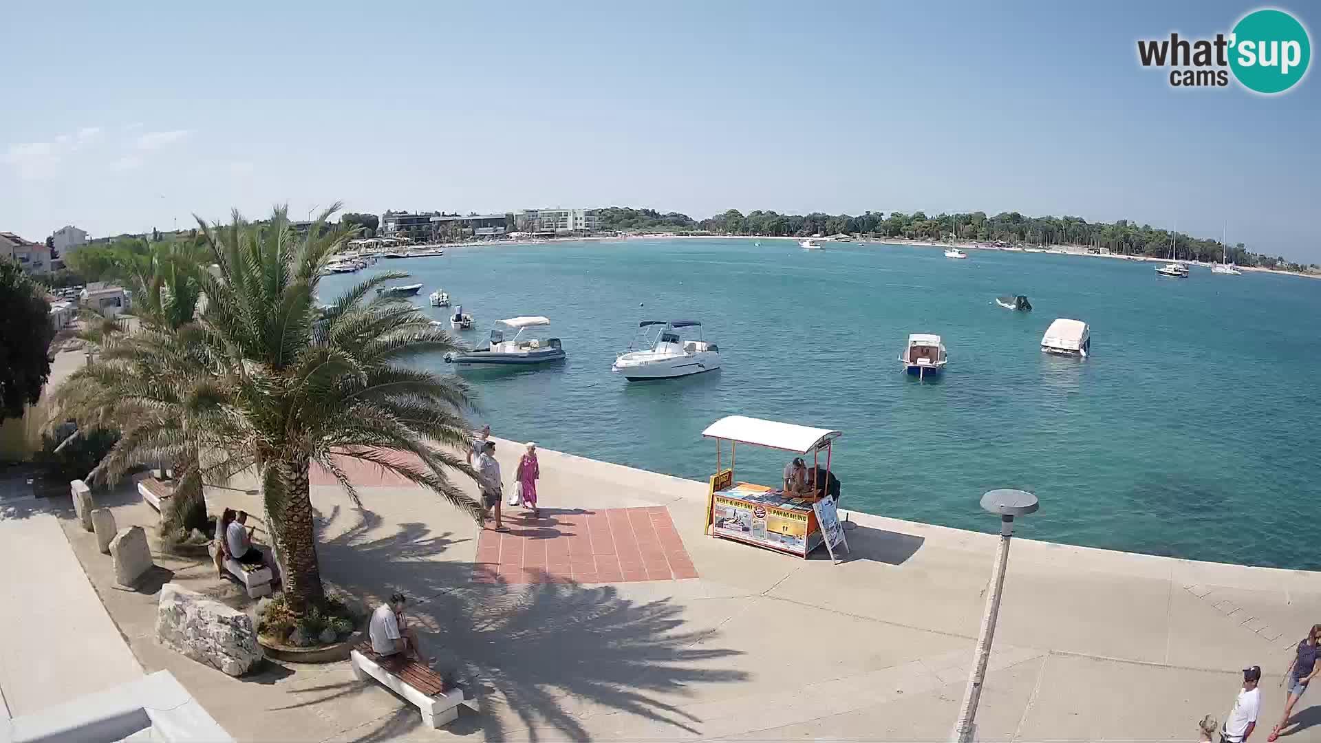Seaside promenade in Novalja