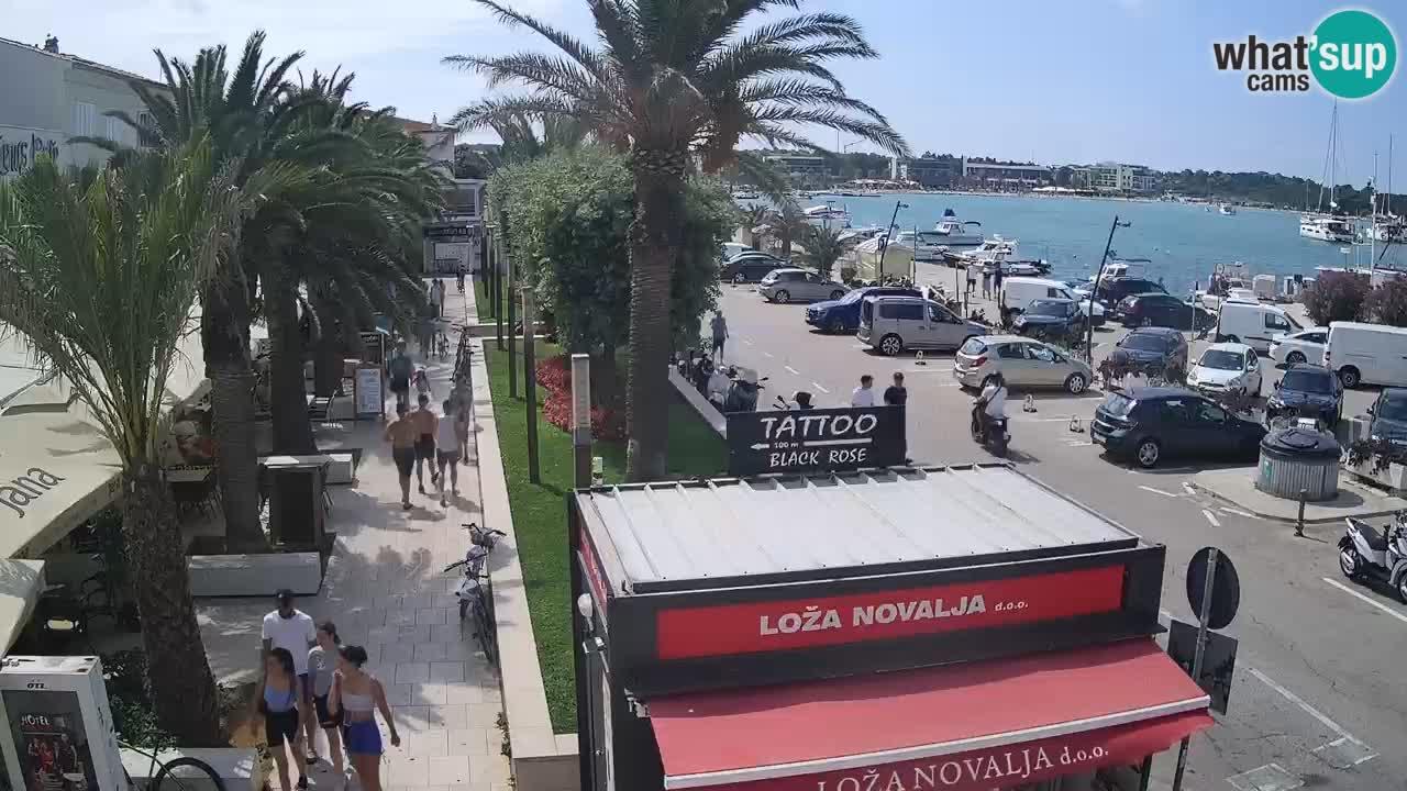 Live cam Novalja – Obala Petra Krešimira IV