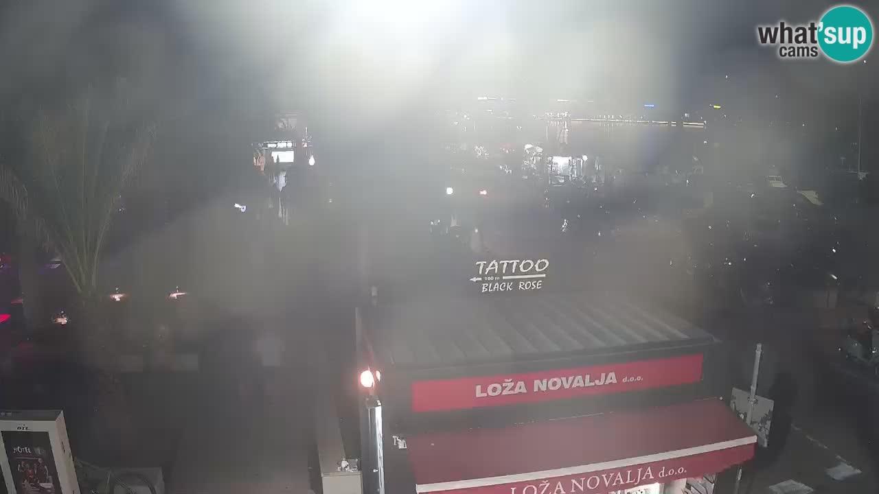 Webcam live Novalja – Obala Petra Krešimira IV