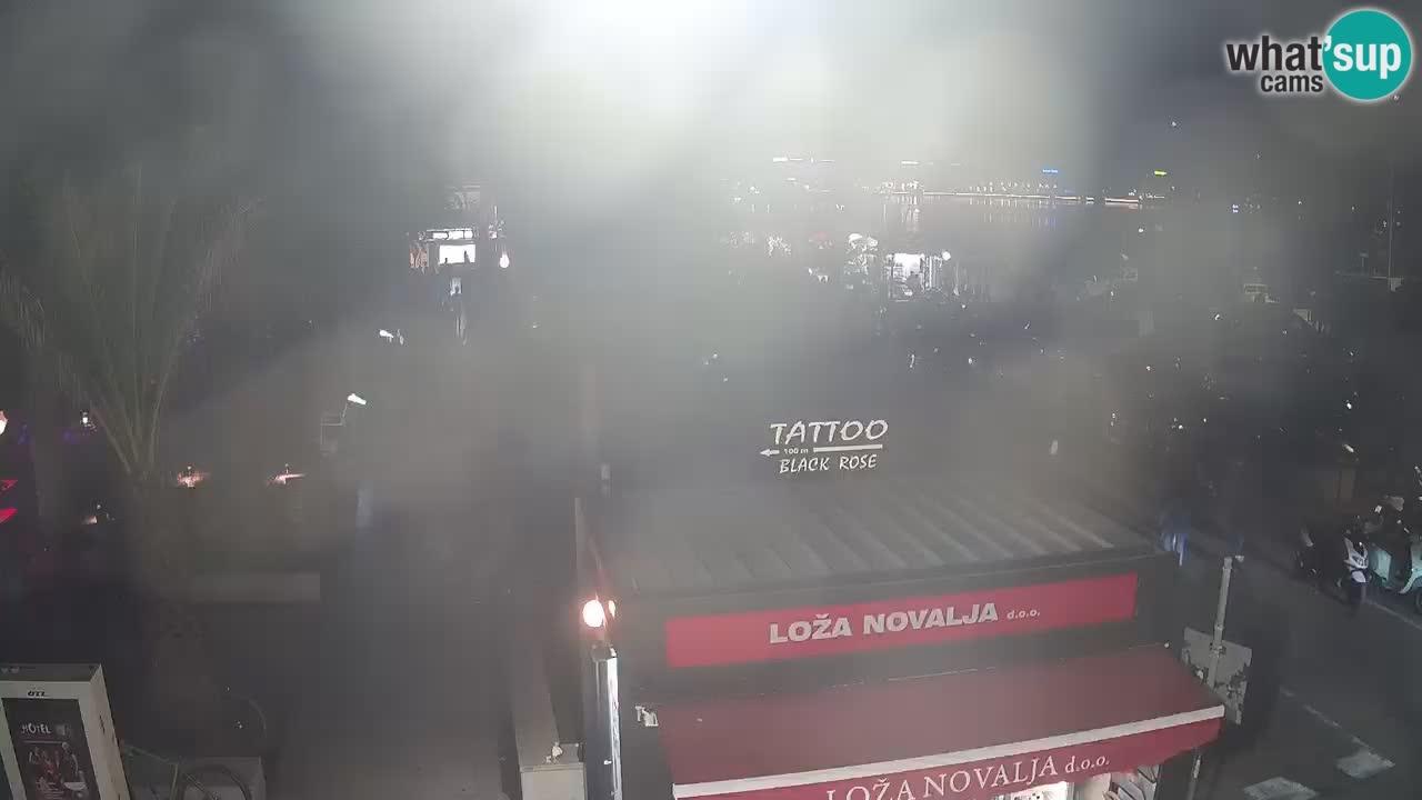 Web kamera Novalja – Obala Petra Krešimira IV