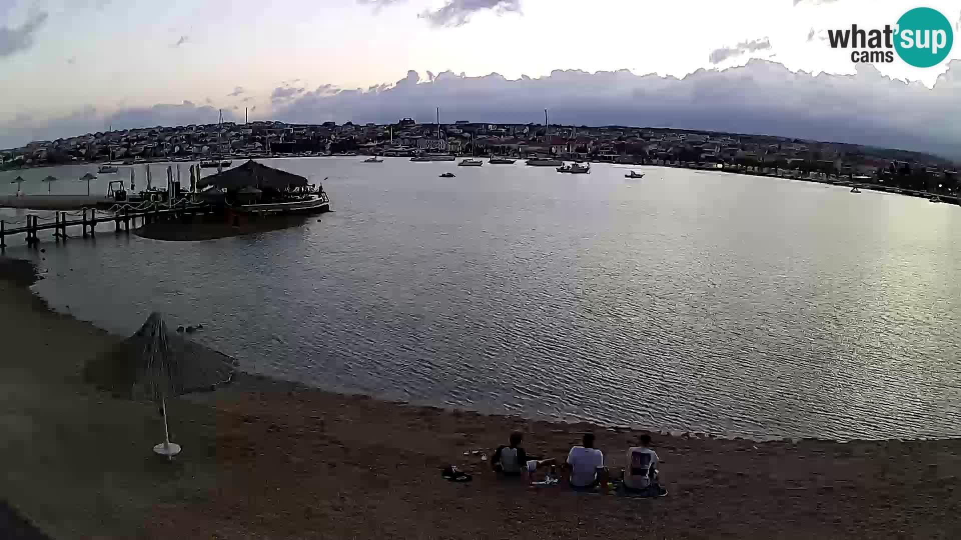 Novalja livecam – plage de la ville