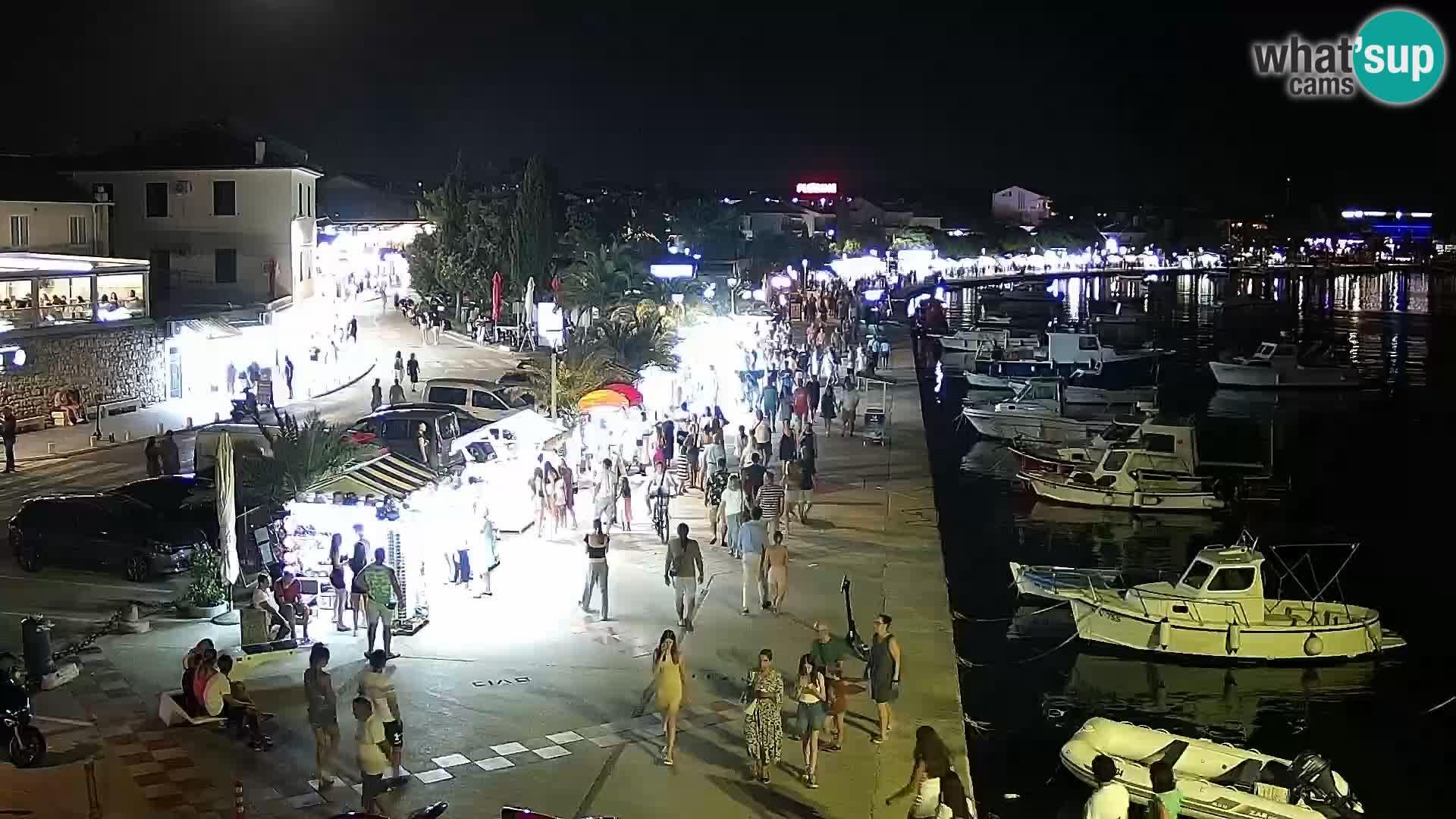 Novalja Livecam promenade