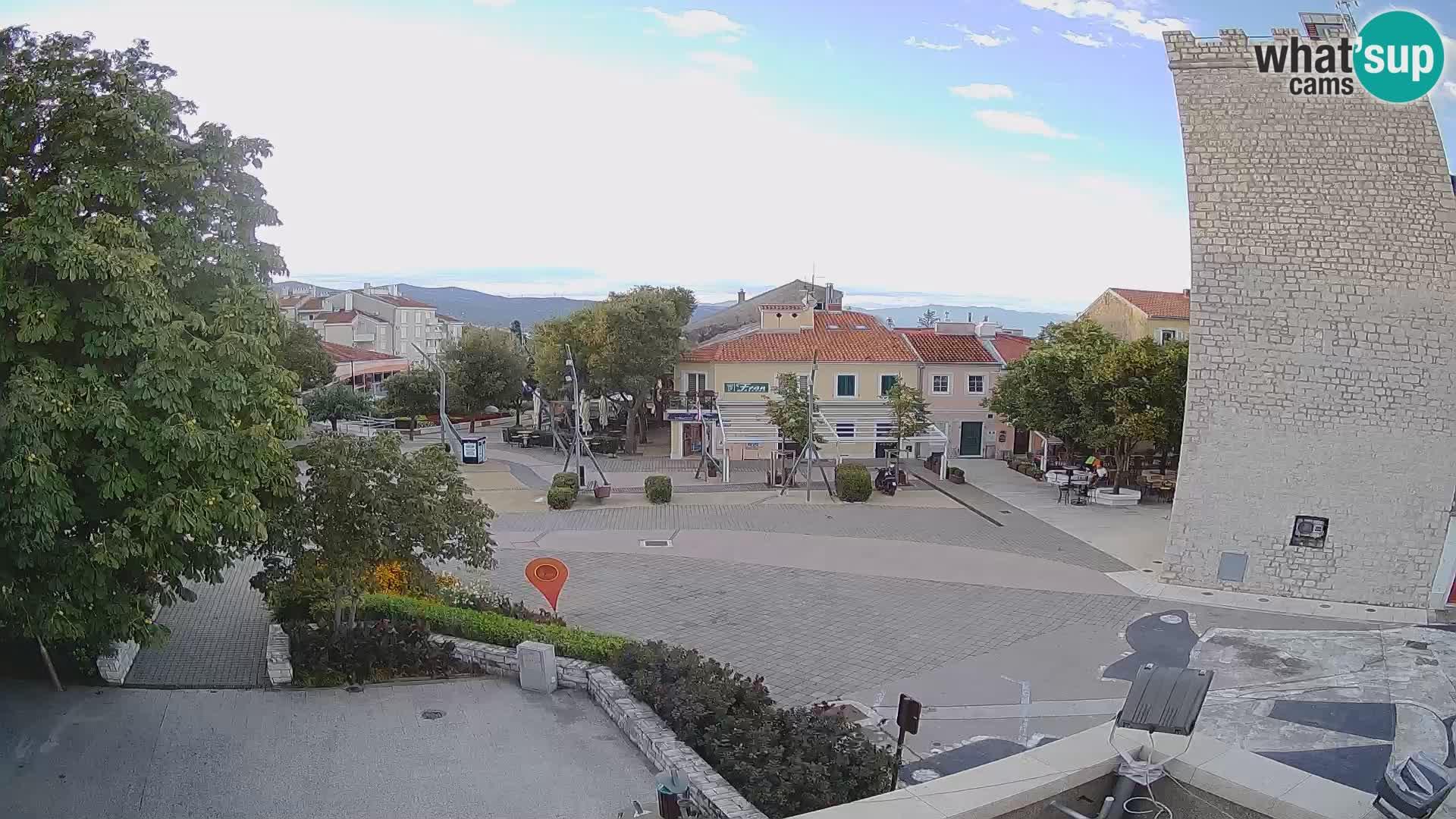 Spletna kamera – Novi Vinodolski –  Korzo Hrvatskih branitelja