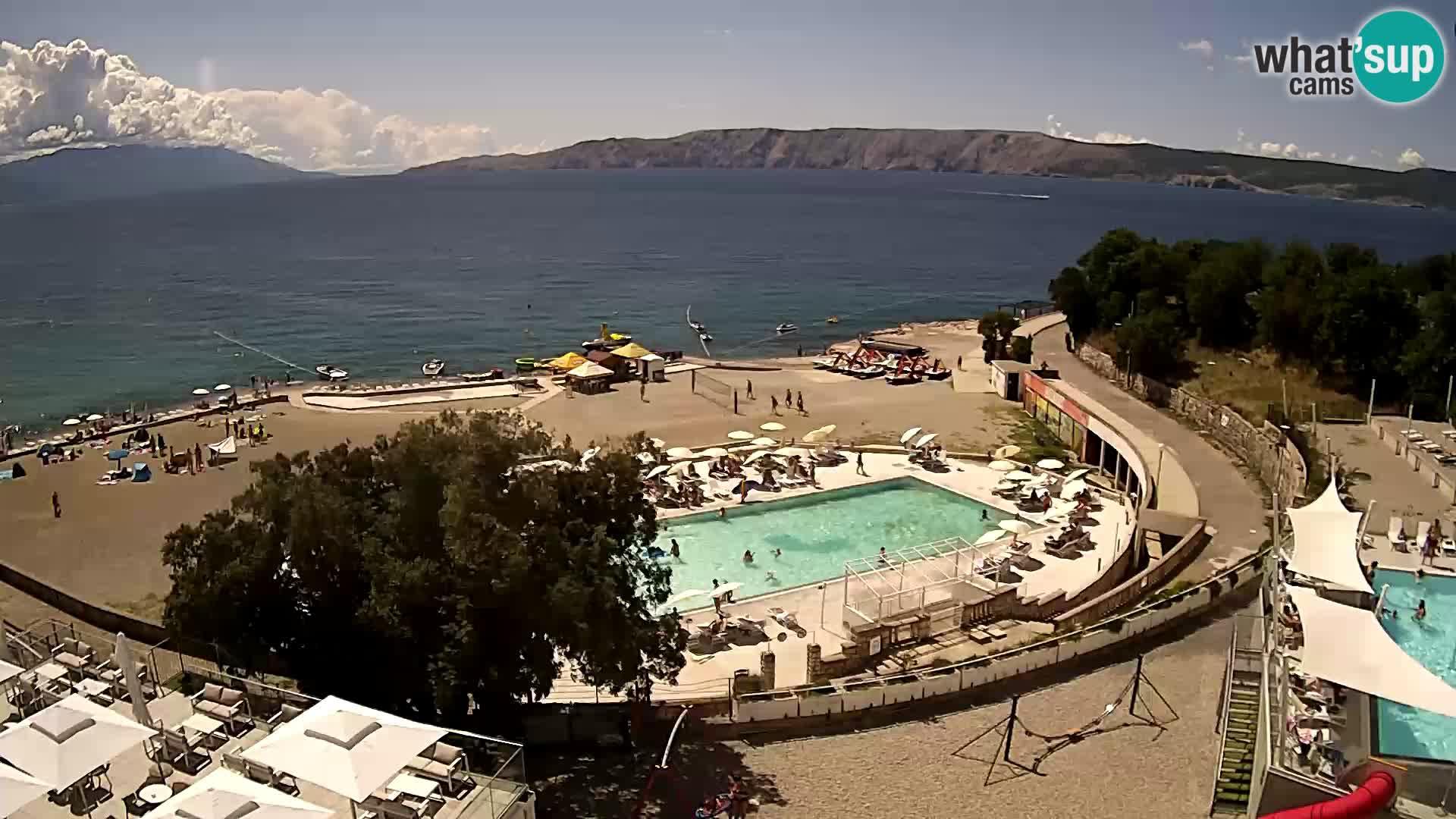 Novi Vinodolski – Beach – webcam live