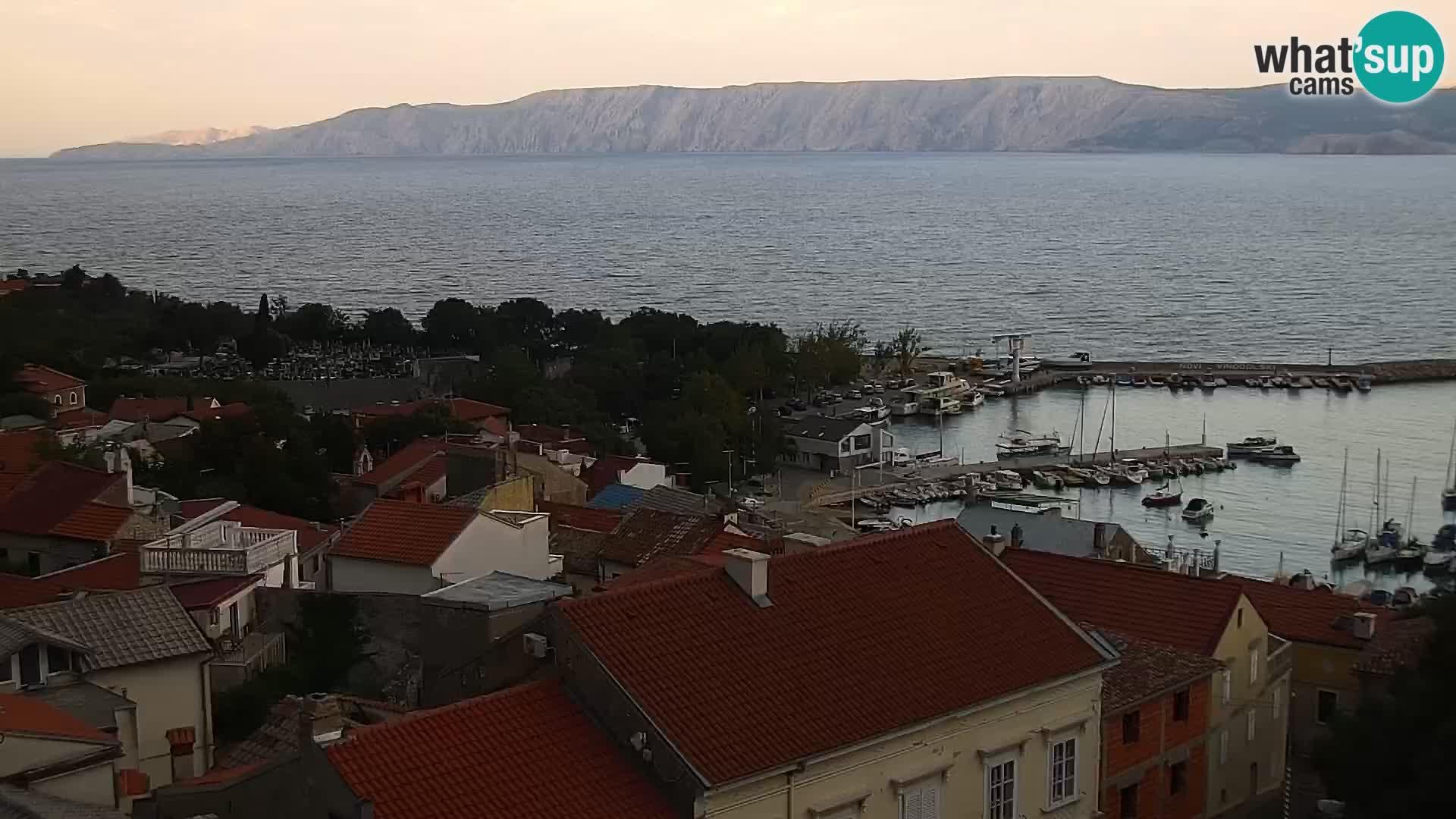Panorama Novi Vinodolski live cam Dalmatie