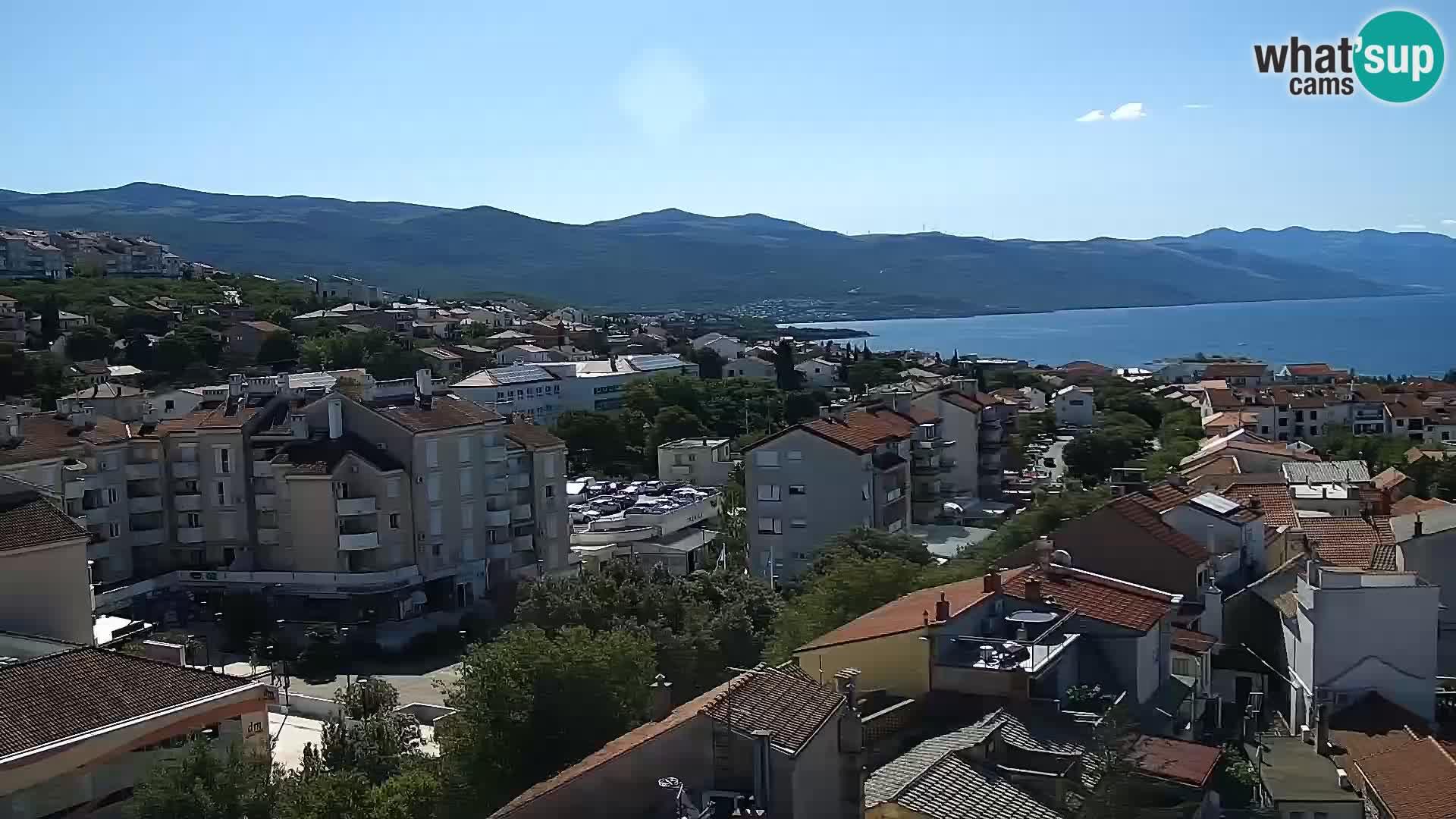 Panoramska spletna kamera Novi Vinodolski – Dalmacija v živo