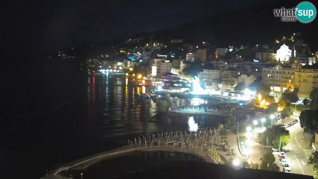 Abbazia webcam – Panorama dall' Hotel Milenij