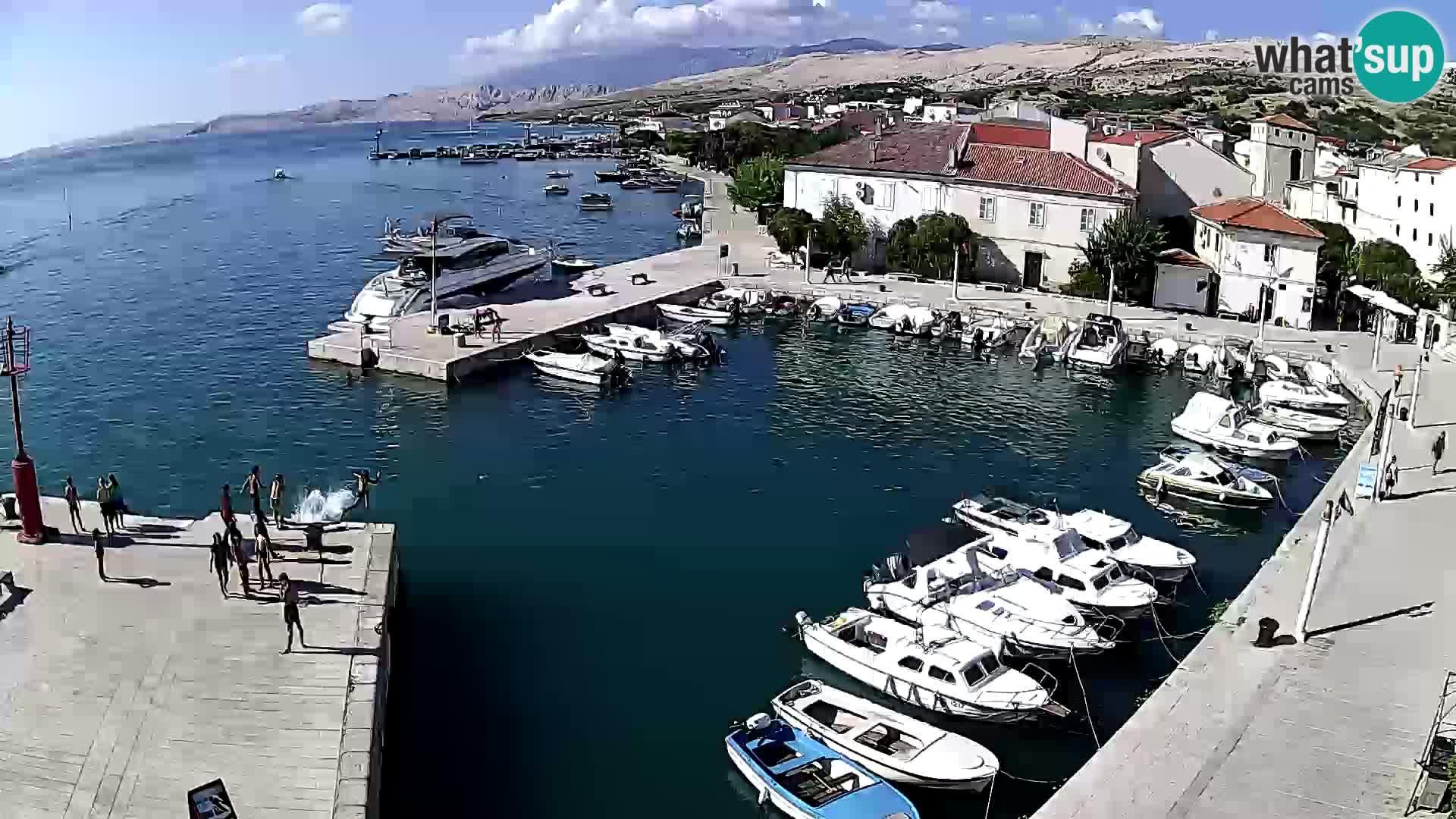 Pag webcam – town marina