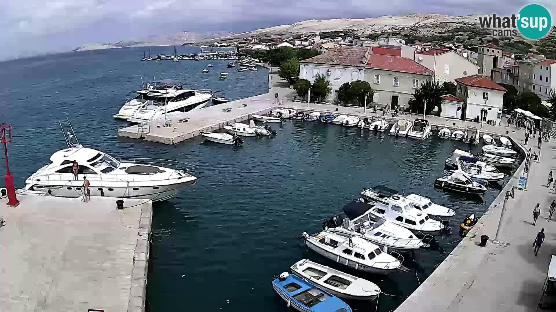 Pag Live webcam – porto turistico