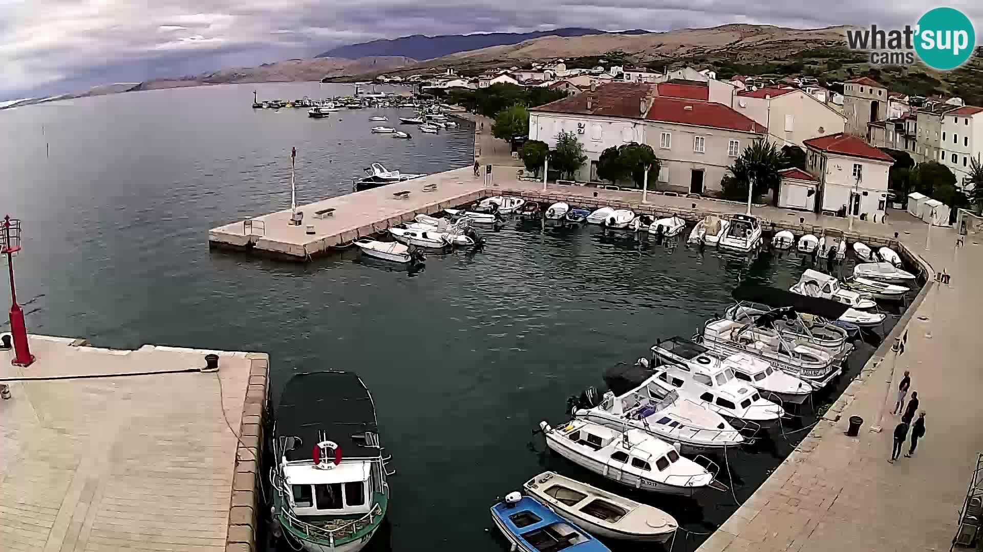 Livecam Pag – Marina de la ville