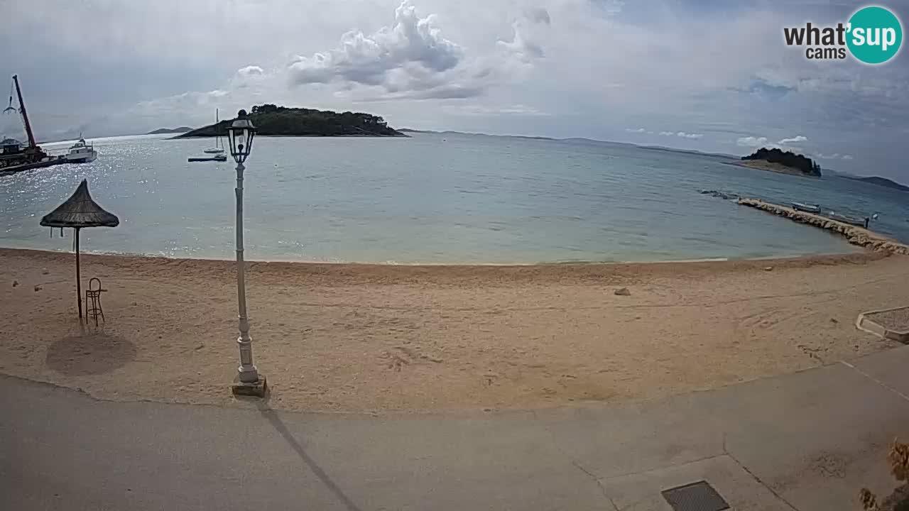 Pakoštane web kamera plaža – pogled sa apartmana Pauk