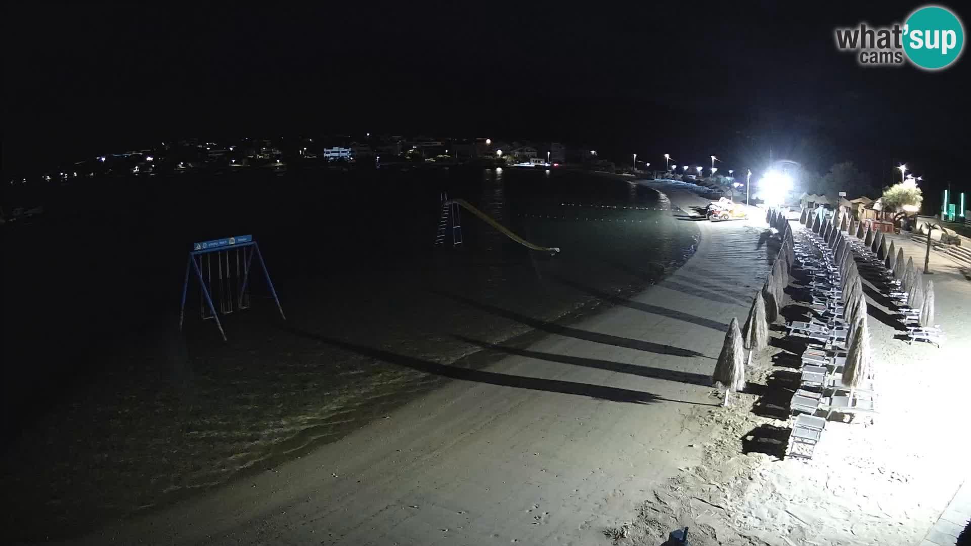 Webcam live – Playa Planjka – Pag