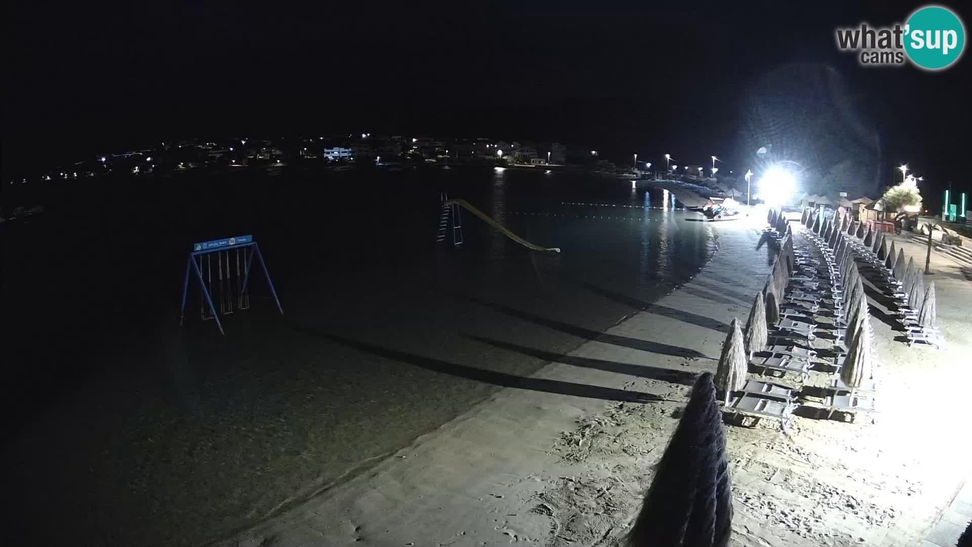 Kamera v zivo – Plaža Planjka – otok Pag