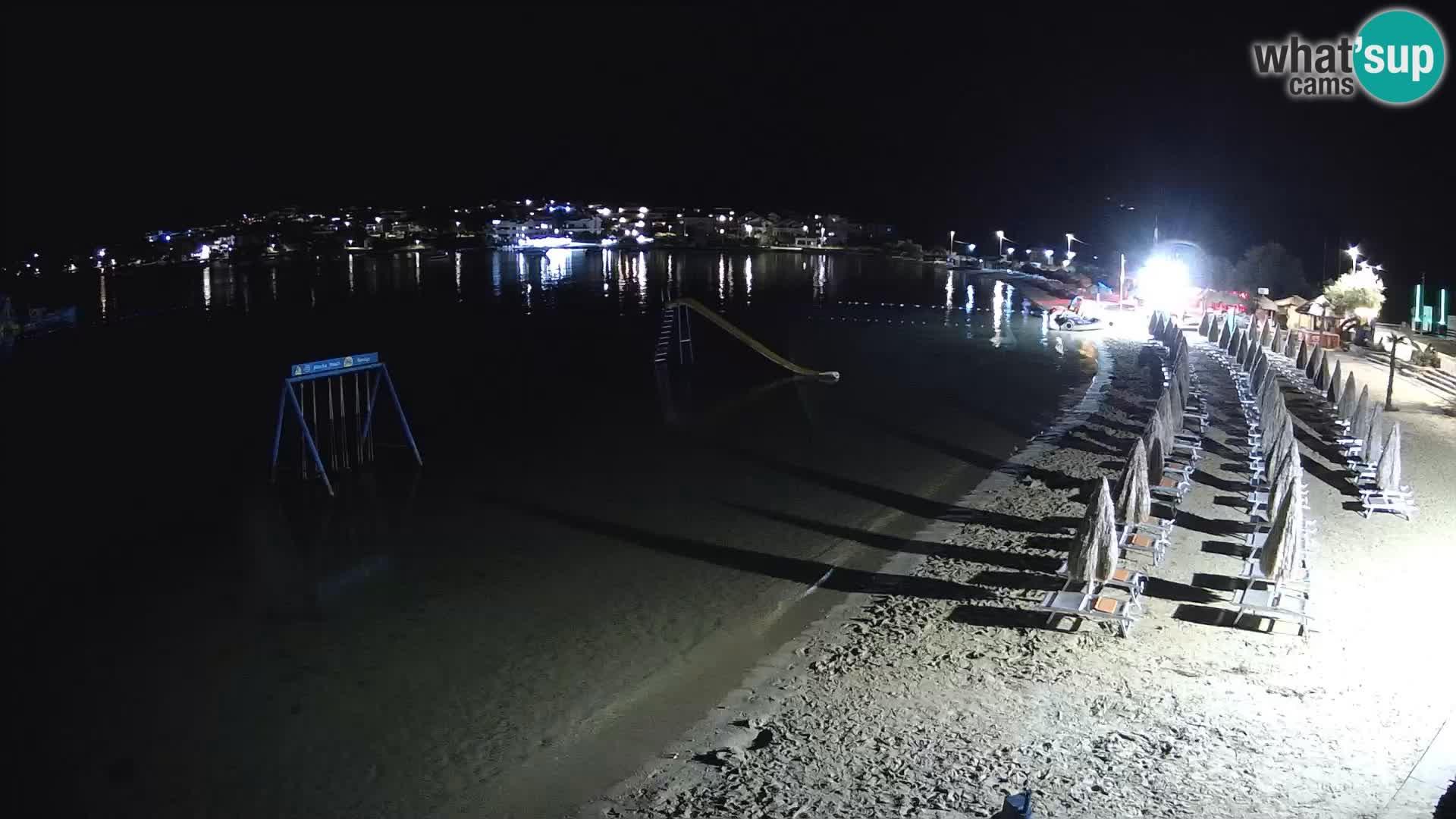 Webcam Live – Spiaggia Planjka isola di Pag