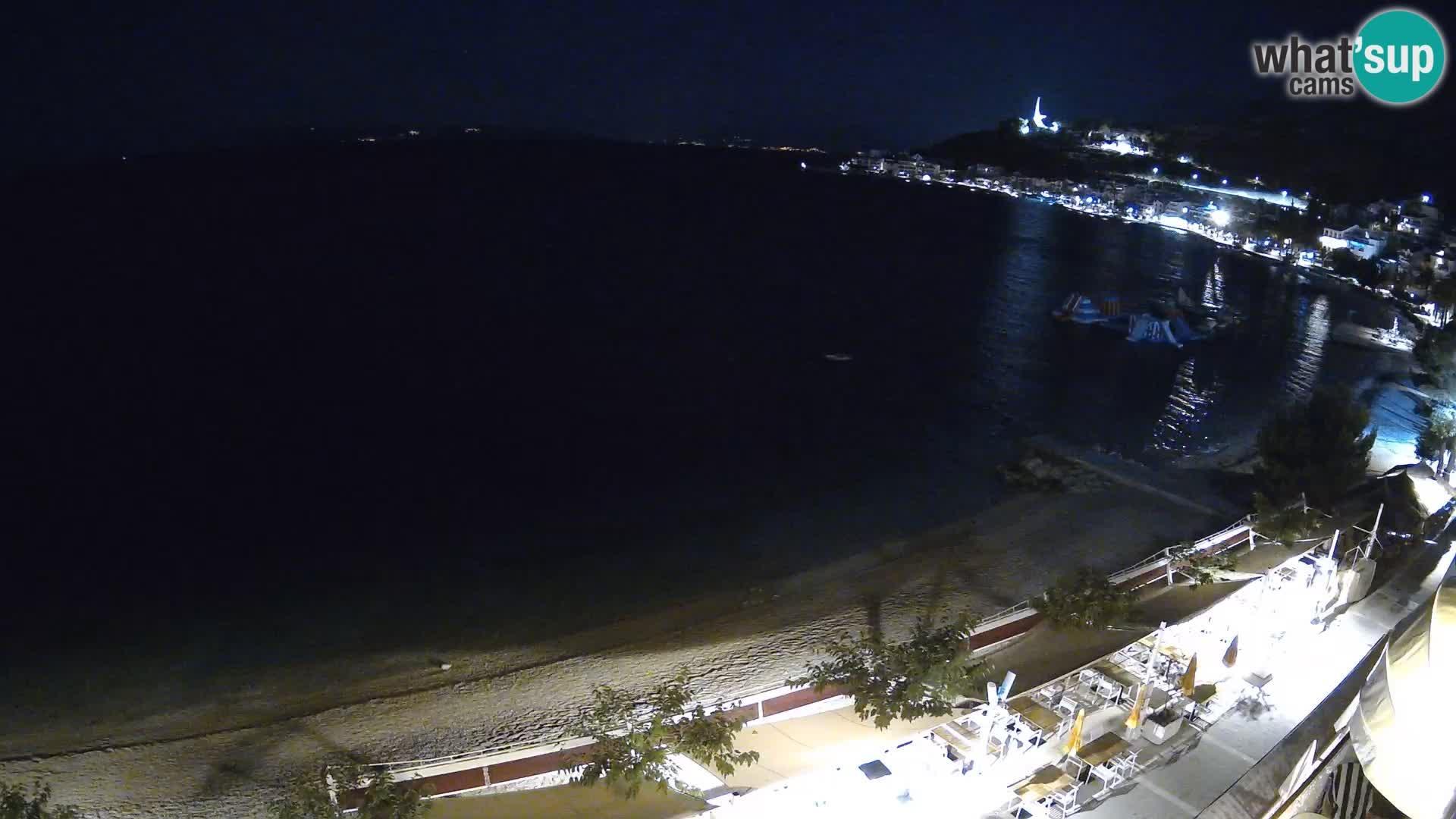Panorama della spiaggia a Podgora