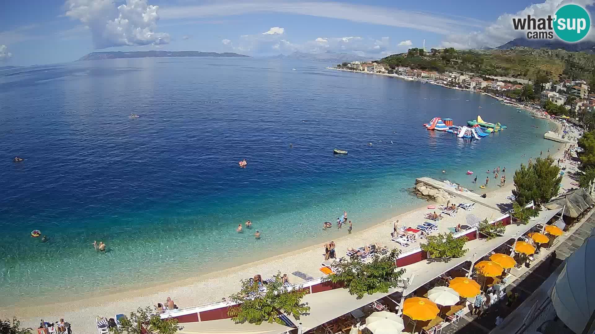 Panorama strand in Podgora