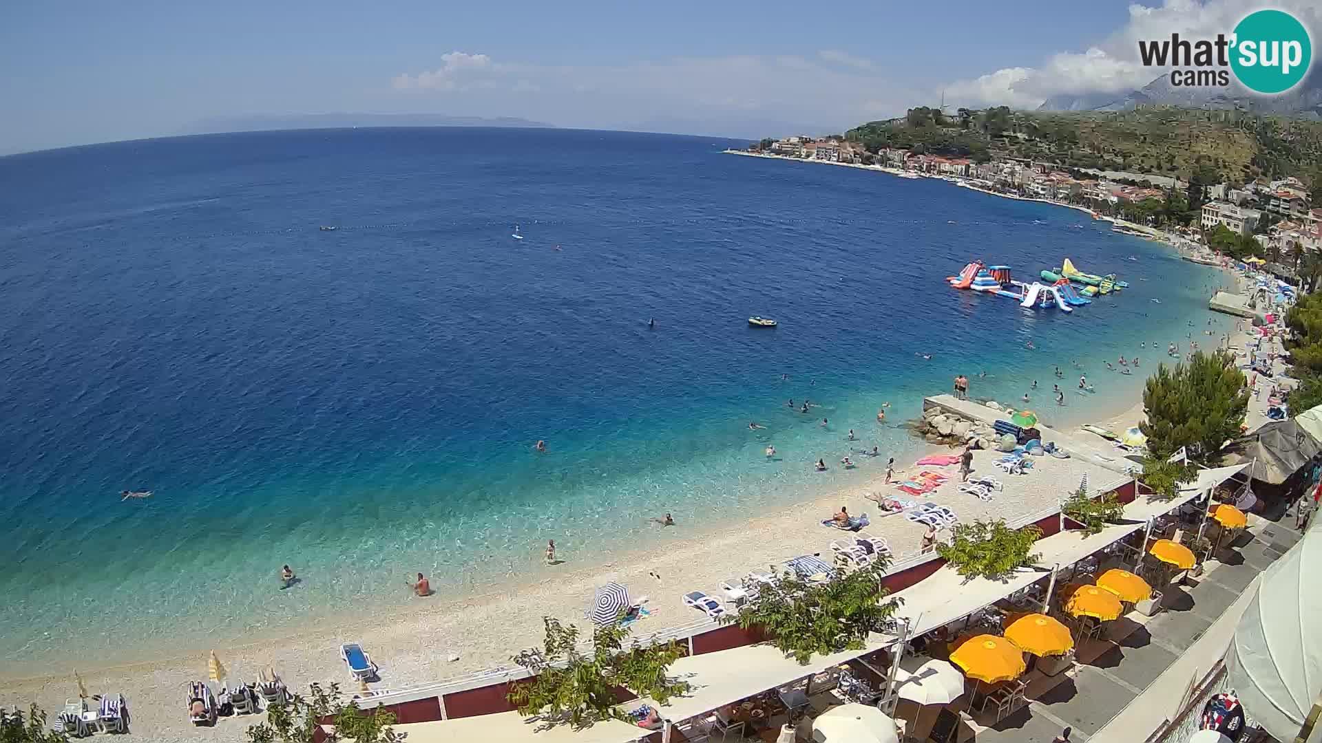 Vista de la playa in Podgora