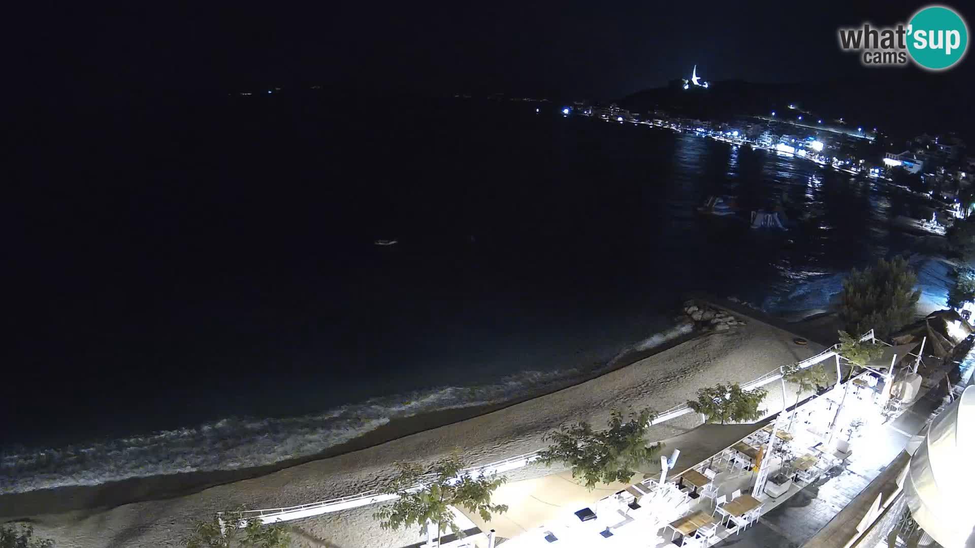 Vue de plage in Podgora