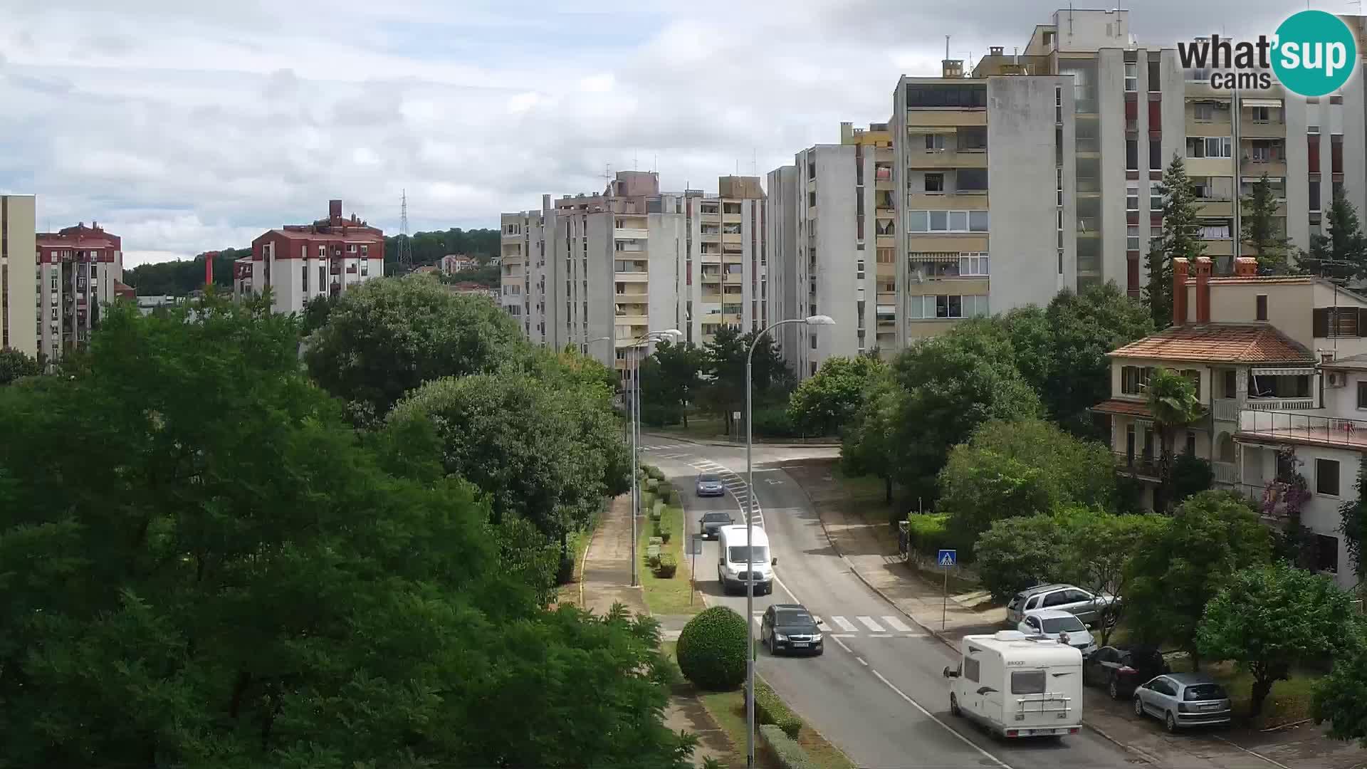 Pula spletna kamera – Koperska ulica – Istra v živo