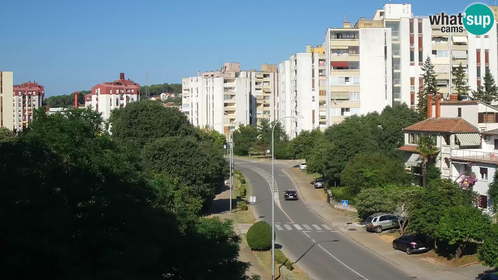 Pula web kamera – Koparska ulica – kamera uživo Istra