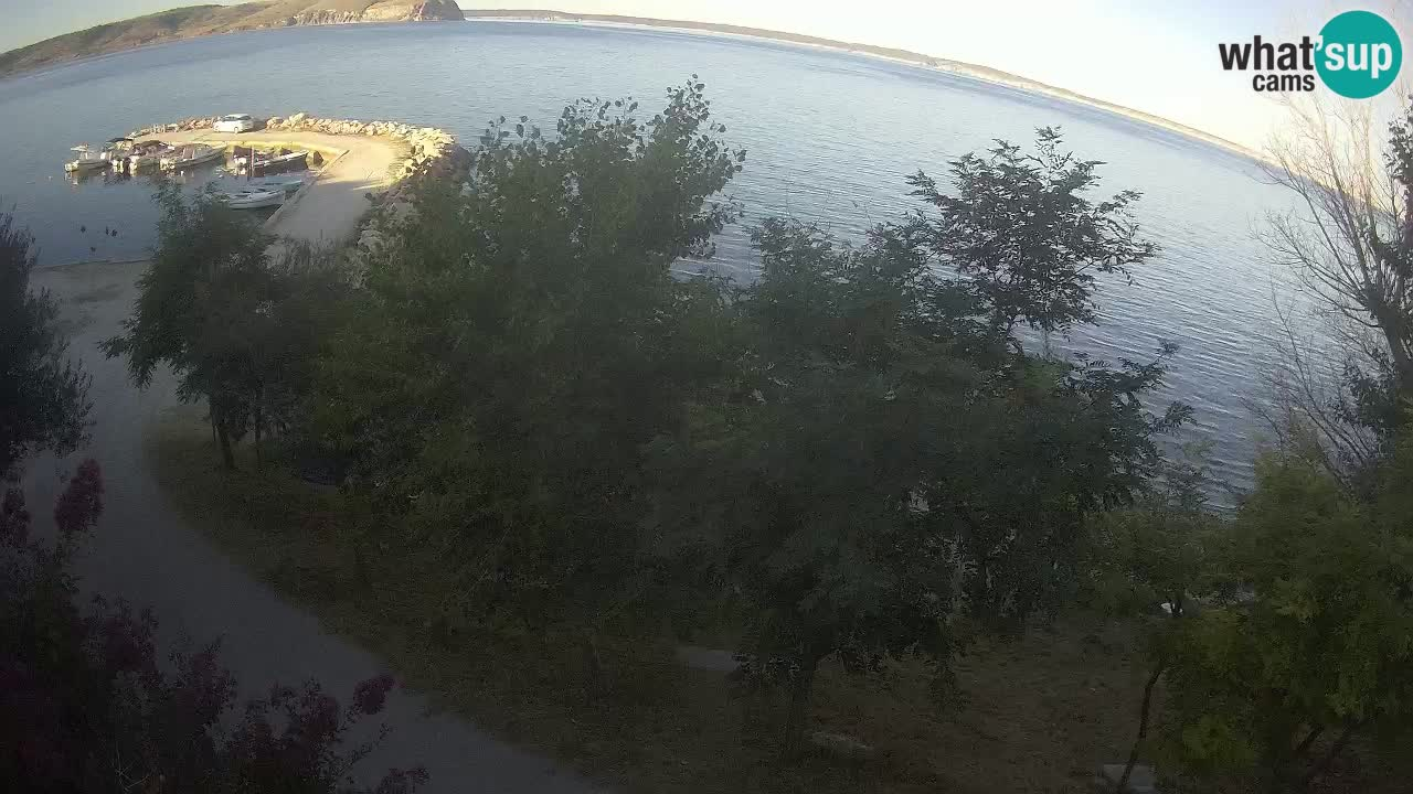 Camping Odmoree camera en vivo Ražanac – Dalmacia