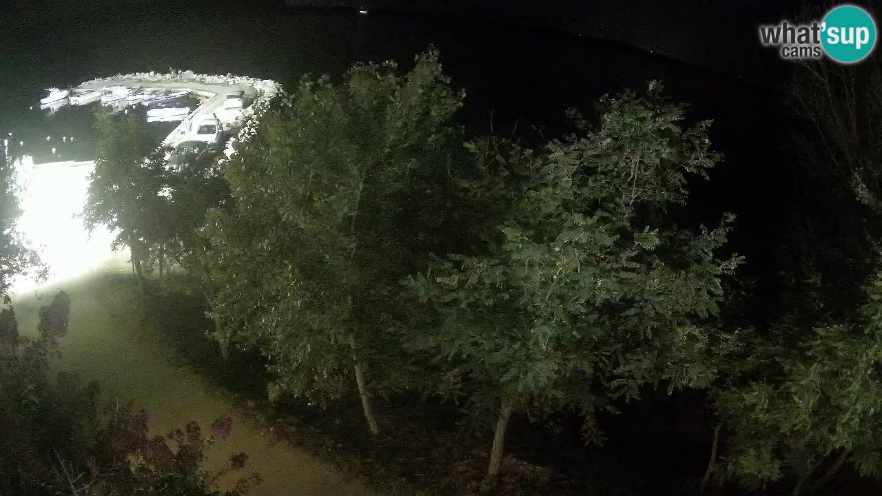 Camping Odmoree live webcam Ražanac – Dalmatien