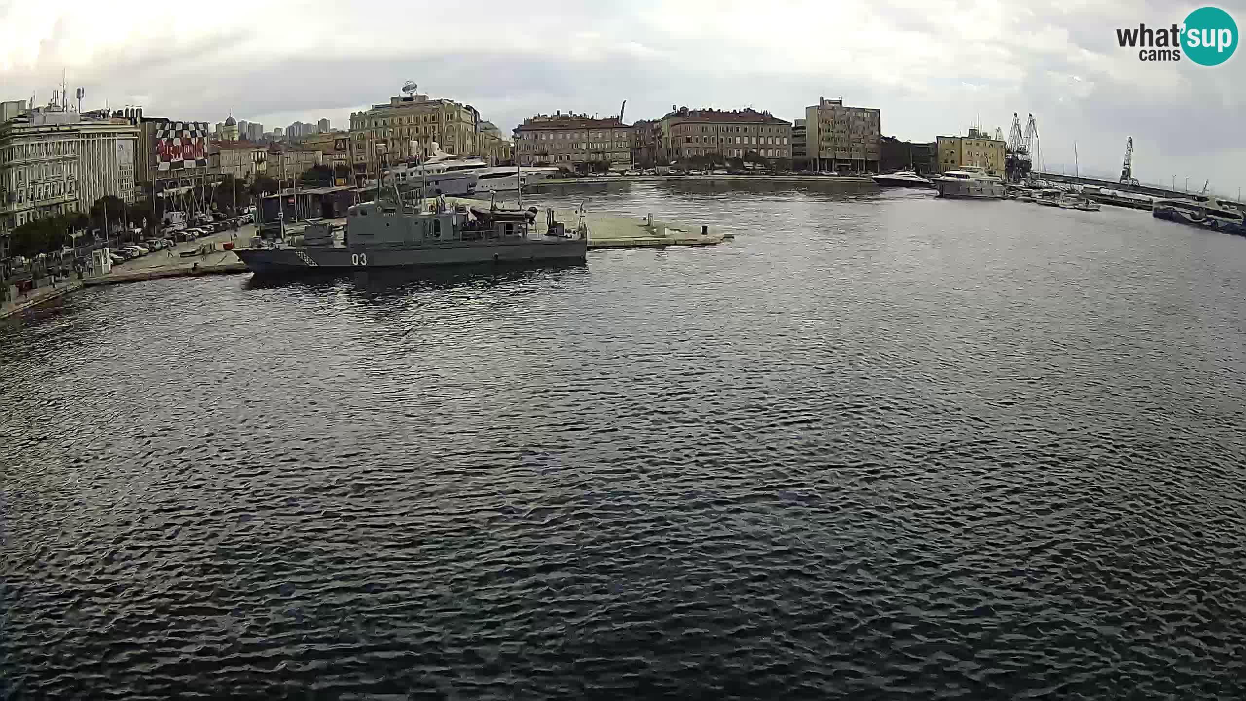 Botel Marina – Rijeka live cam