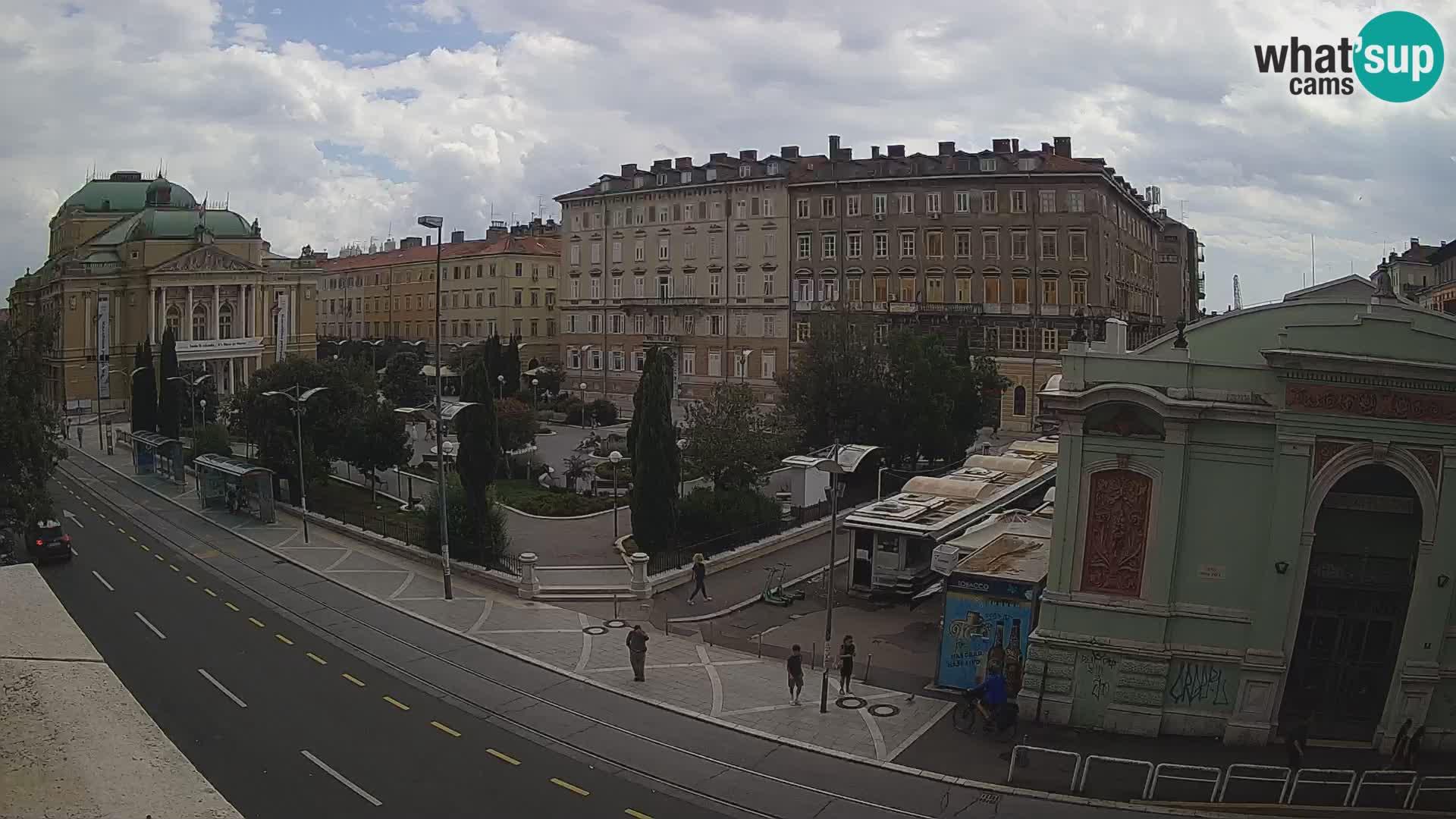 Webcam Rijeka – Park and  Croatian National Theatre Ivan pl. Zajc