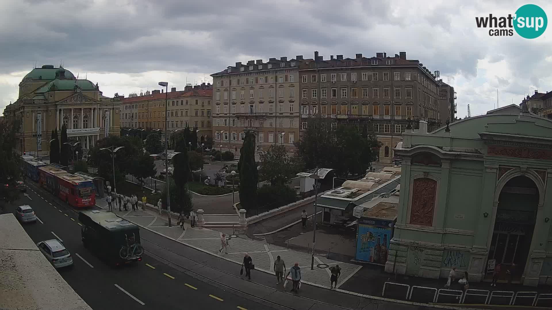 Webkam Rijeka – Park i Hrvatsko narodno kazalište Ivana pl. Zajc