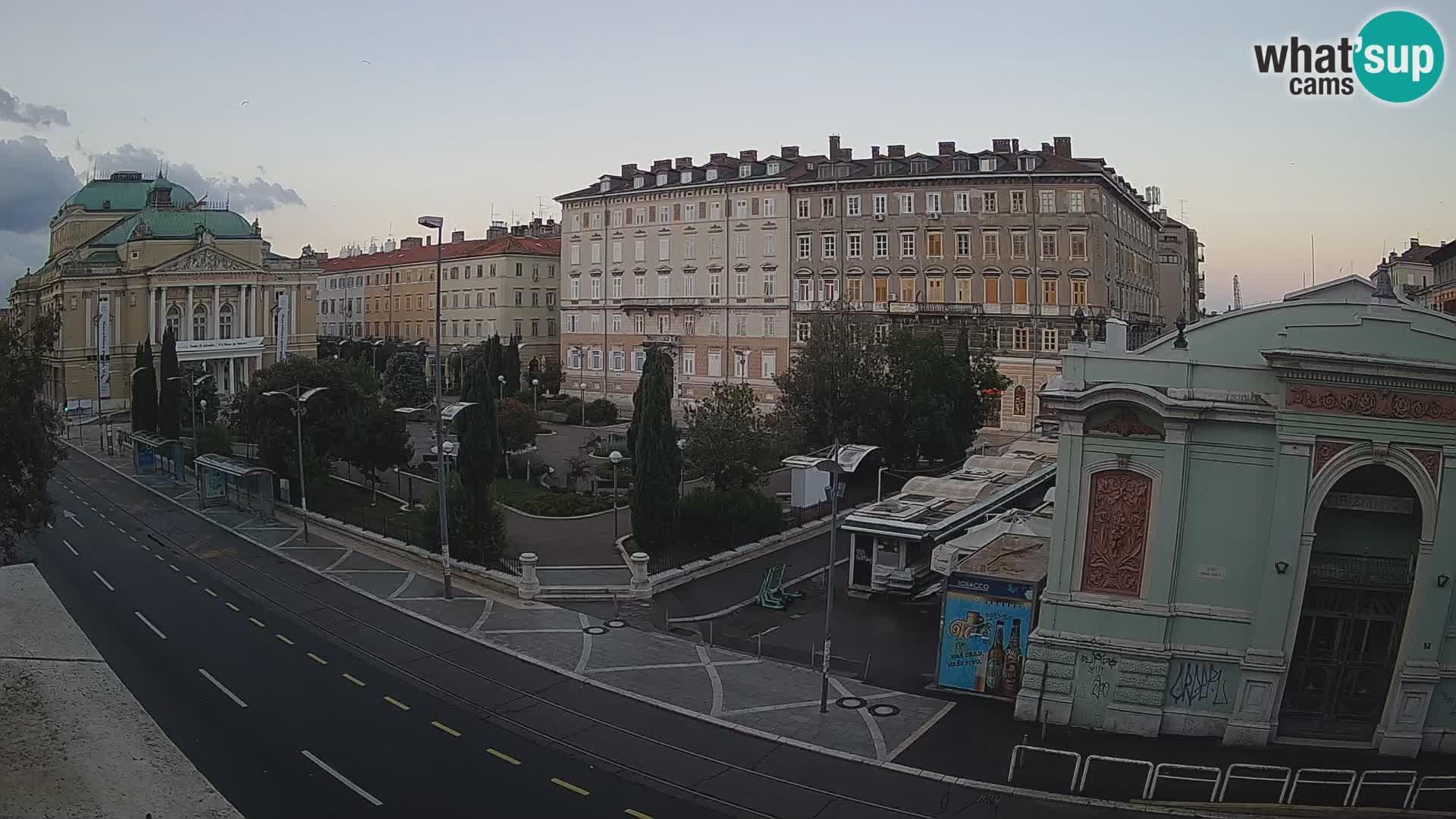 Webcam Rijeka – Parque i Teatro Nacional Croato Ivan pl. Zajc