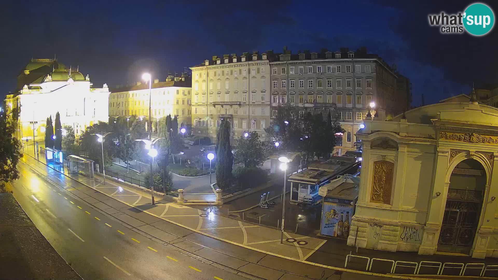 Webcam Rijeka – Park et Théâtre national croate Ivan pl. Zajc