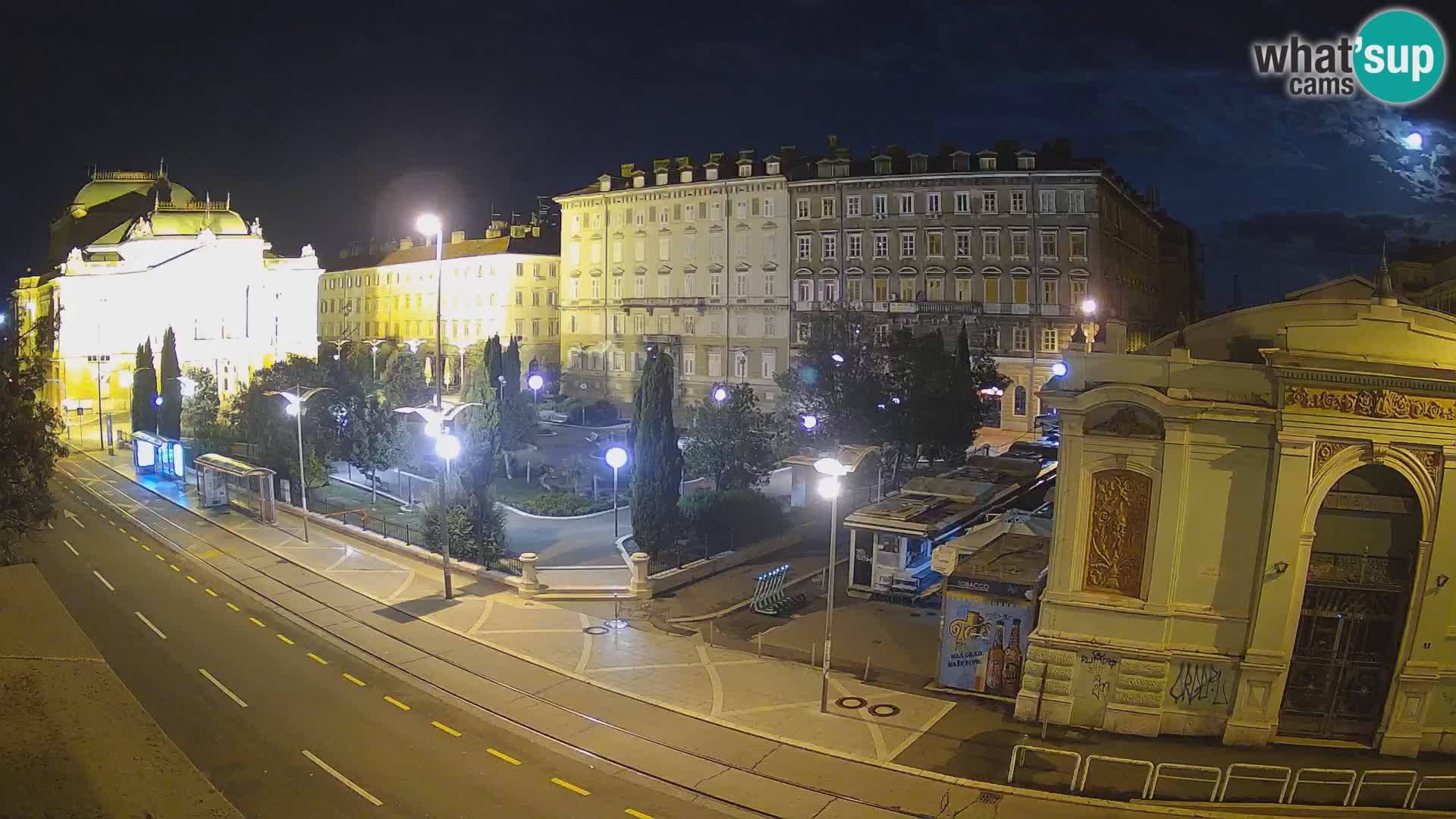 Webcam Fiume – Parco e Teatro nazionale Croato Ivan pl. Zajc