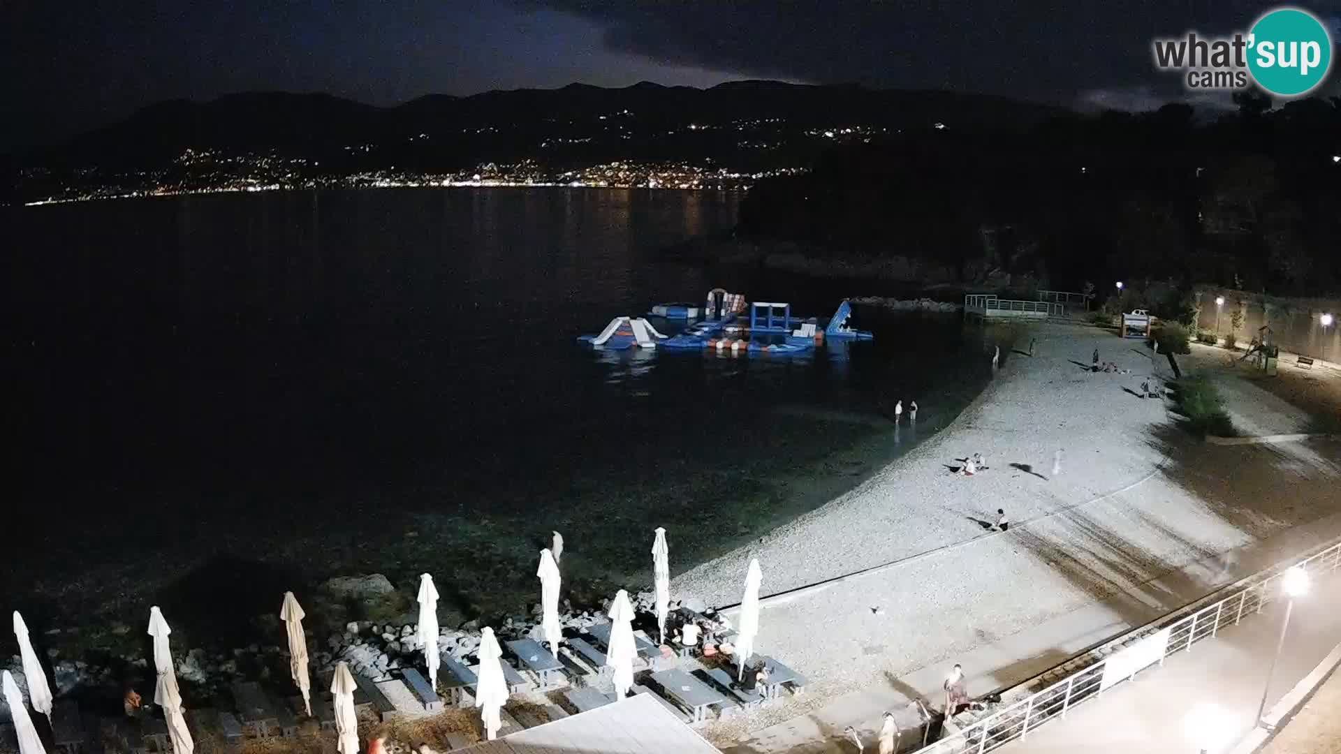 Reka Spletna kamera  plaža pri Bazenih Kantrida