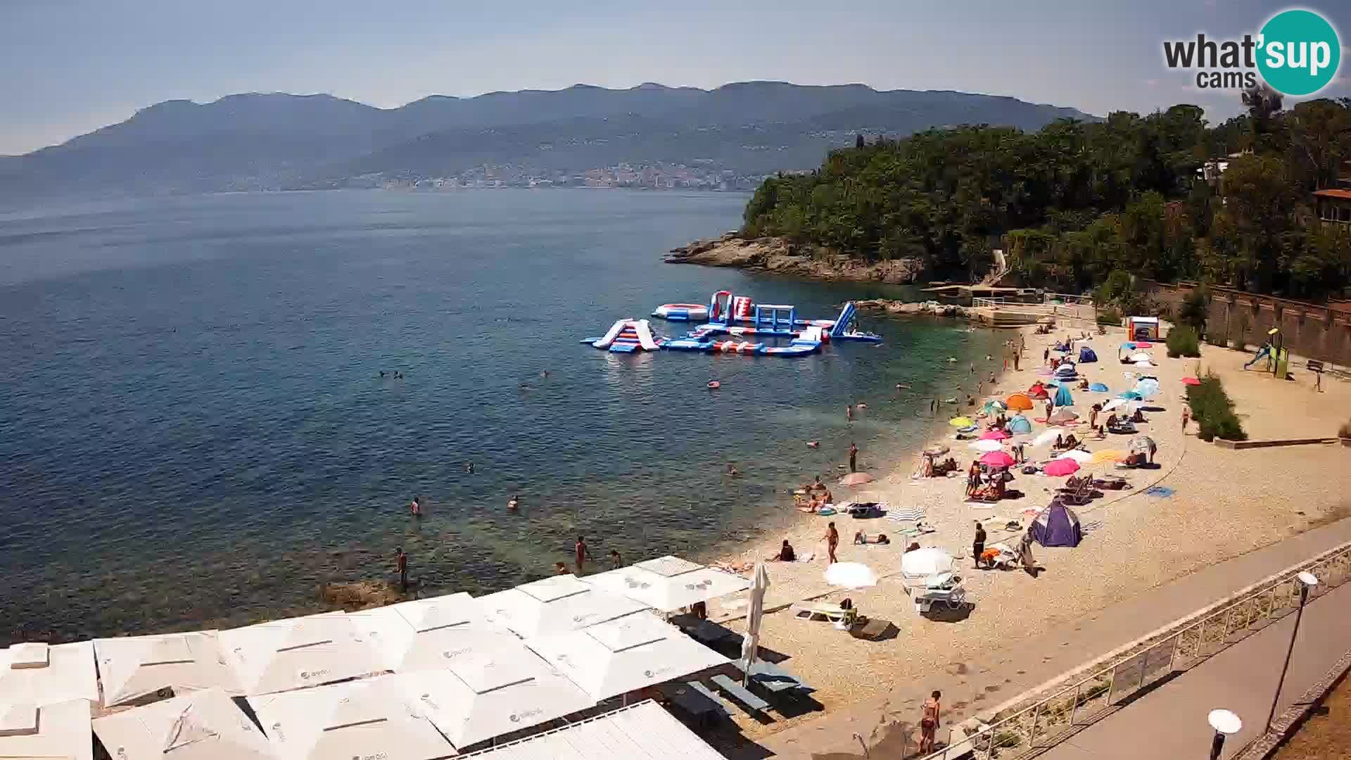 Rijeka web kamera plaža pri Bazenih Kantrida