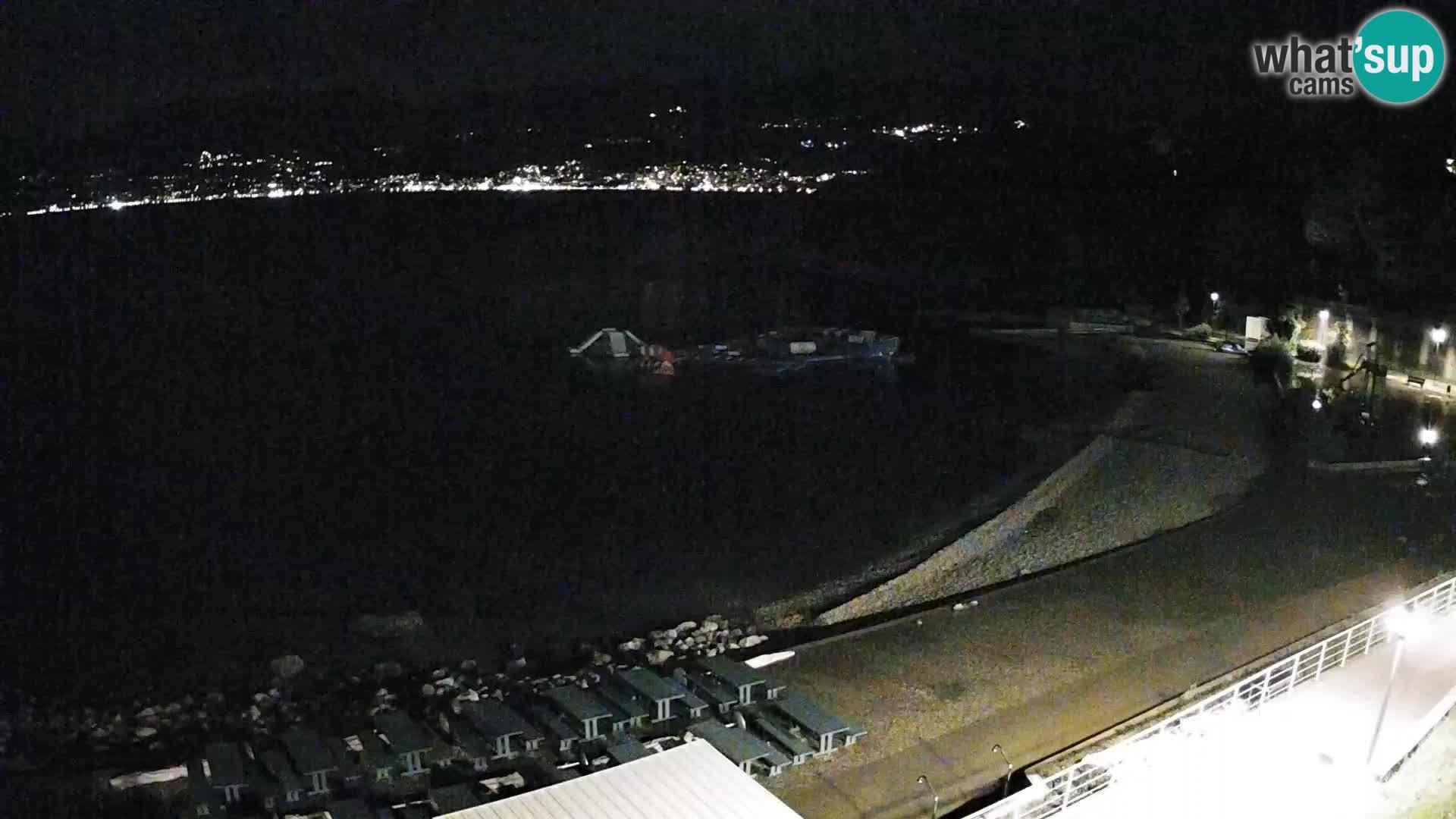 LIVE Webcam Fiume spiaggia piscine Kantrida