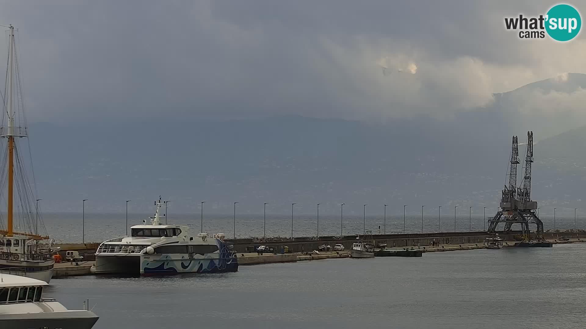 La Riva et Marina à Rijeka – Live Webcam Croatie