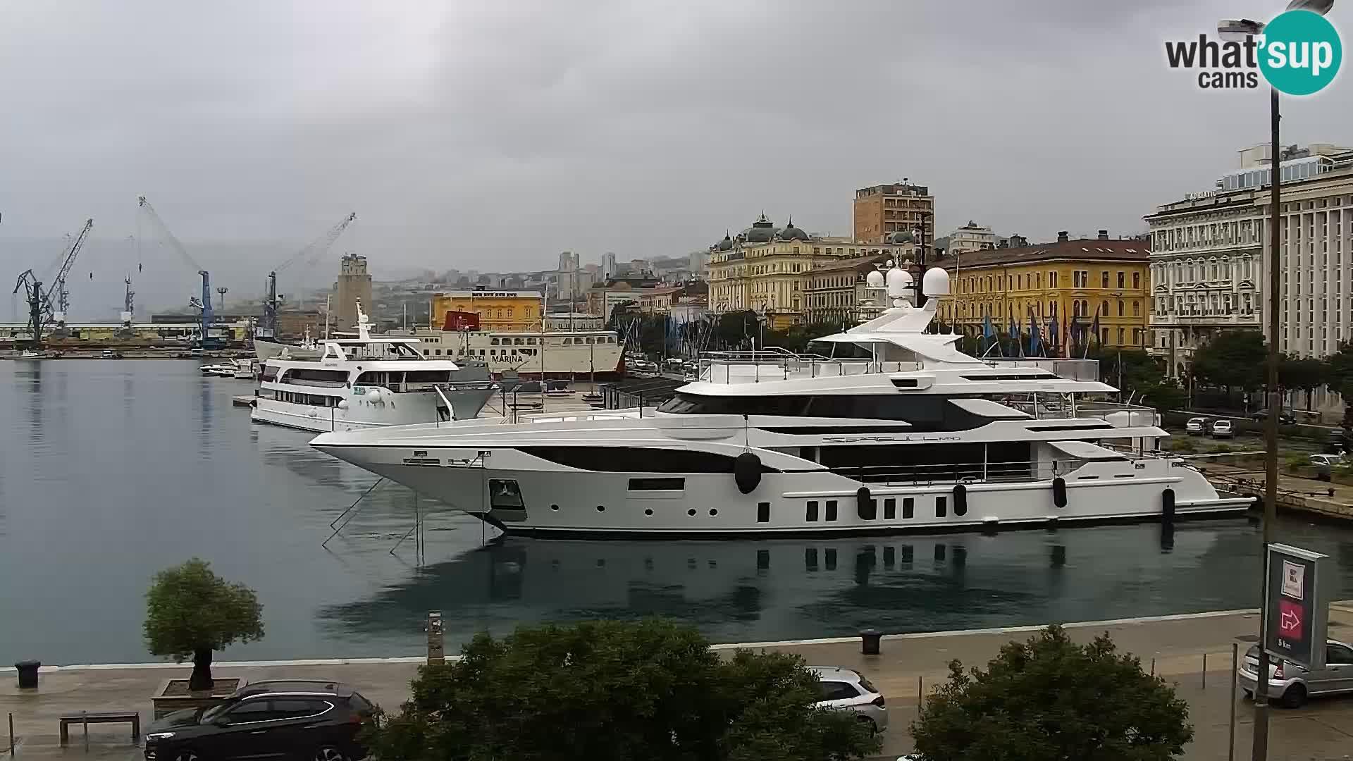 Riva i Marina u Rijeci – Web kamera uživo u Hrvatskoj