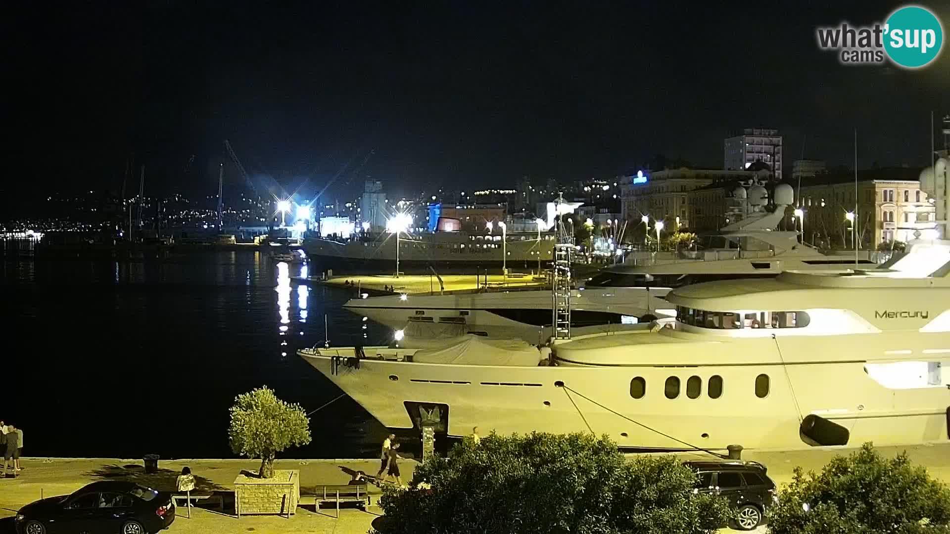Rijeka – luka i ulica Riva