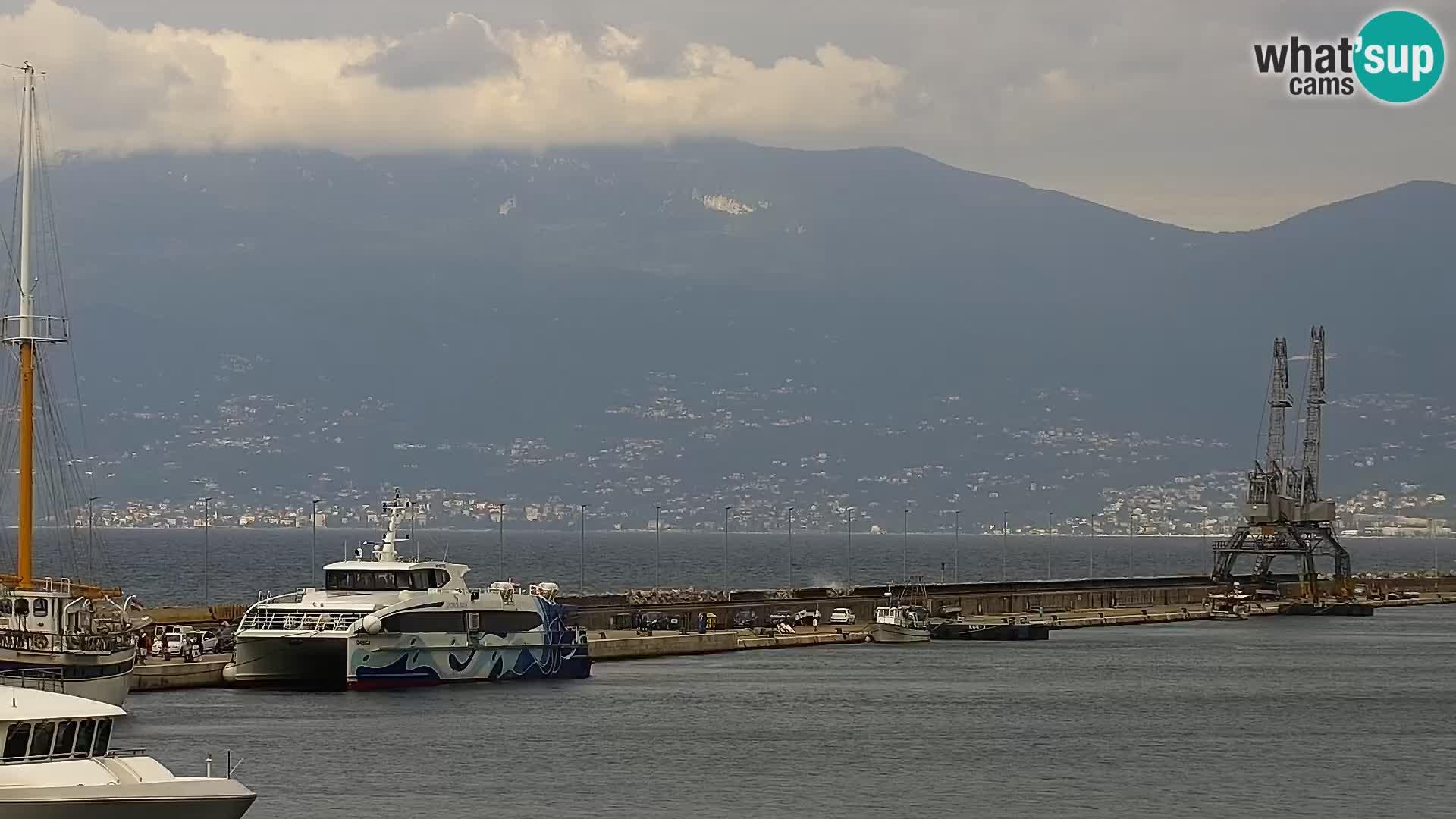 La Riva e la Marina a Rijeka (Fiume) – Live Webcam Croazia