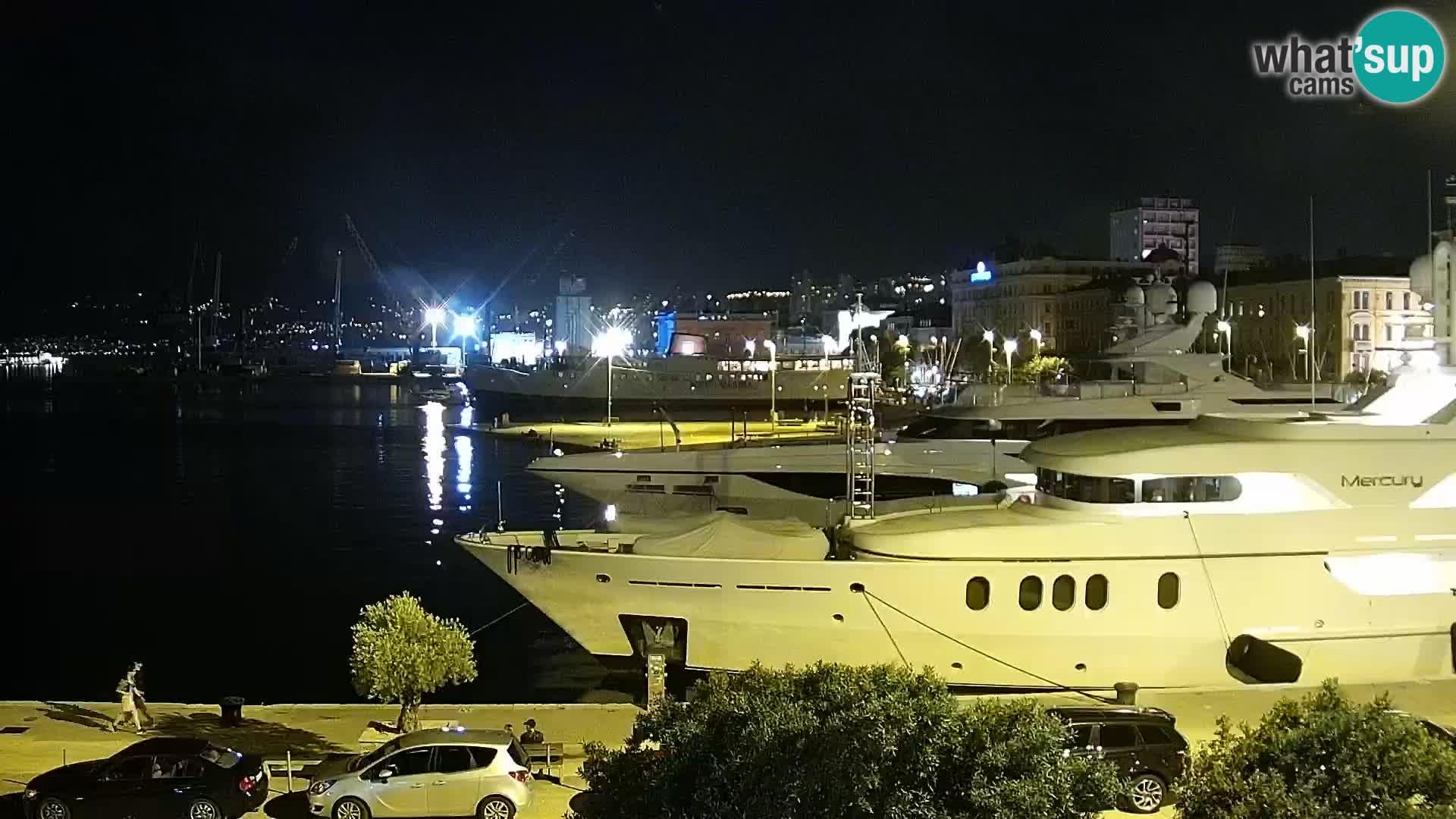 The Riva and Marina in Rijeka  – Live Webcam Croatia