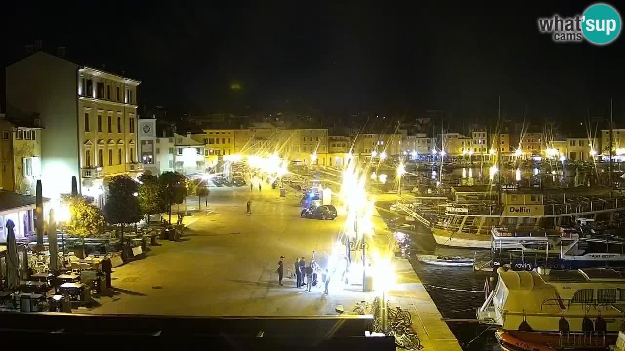 Promenada in marina v Rovinju