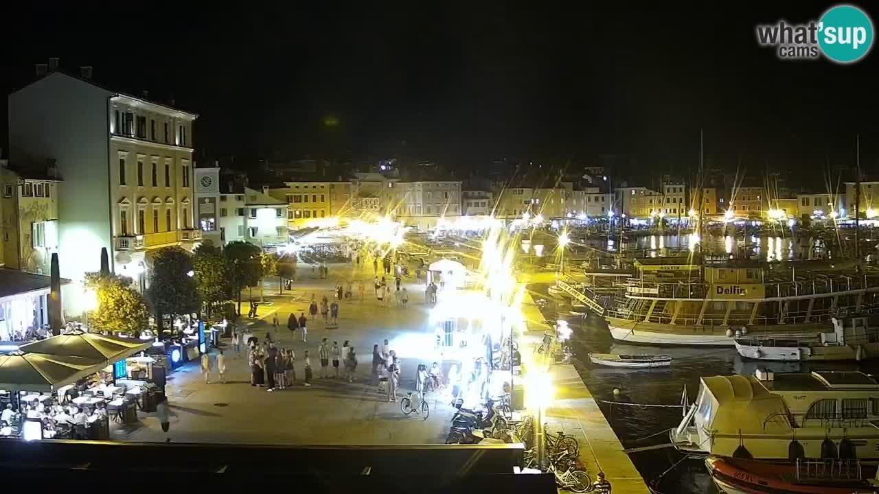 Promenade e marina en Rovinj