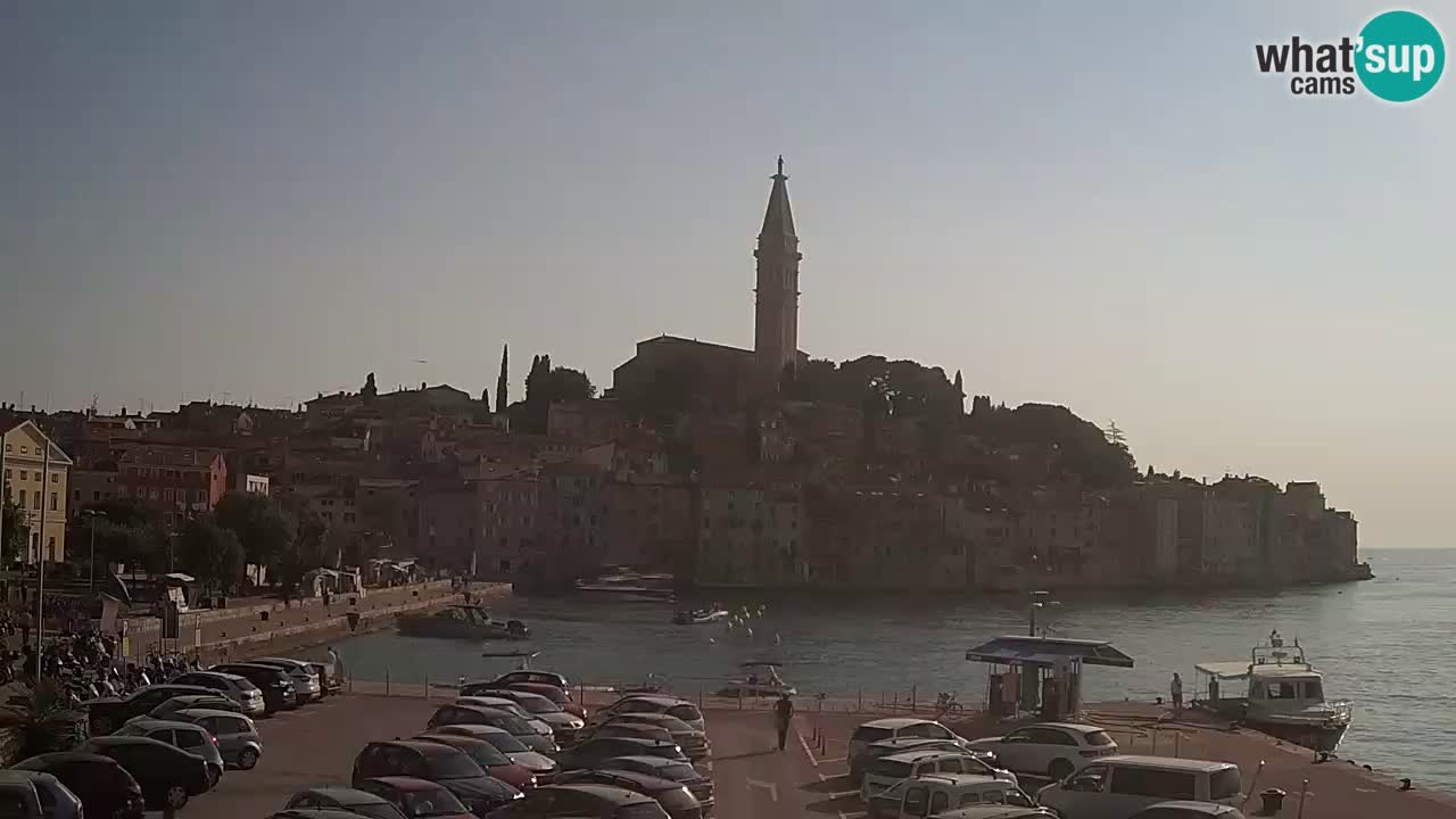 Webcam Rovigno / Rovinj – panorama della città