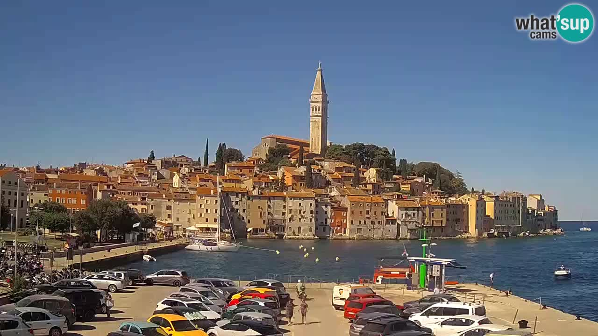 Web kamera Rovinj – panorama grada