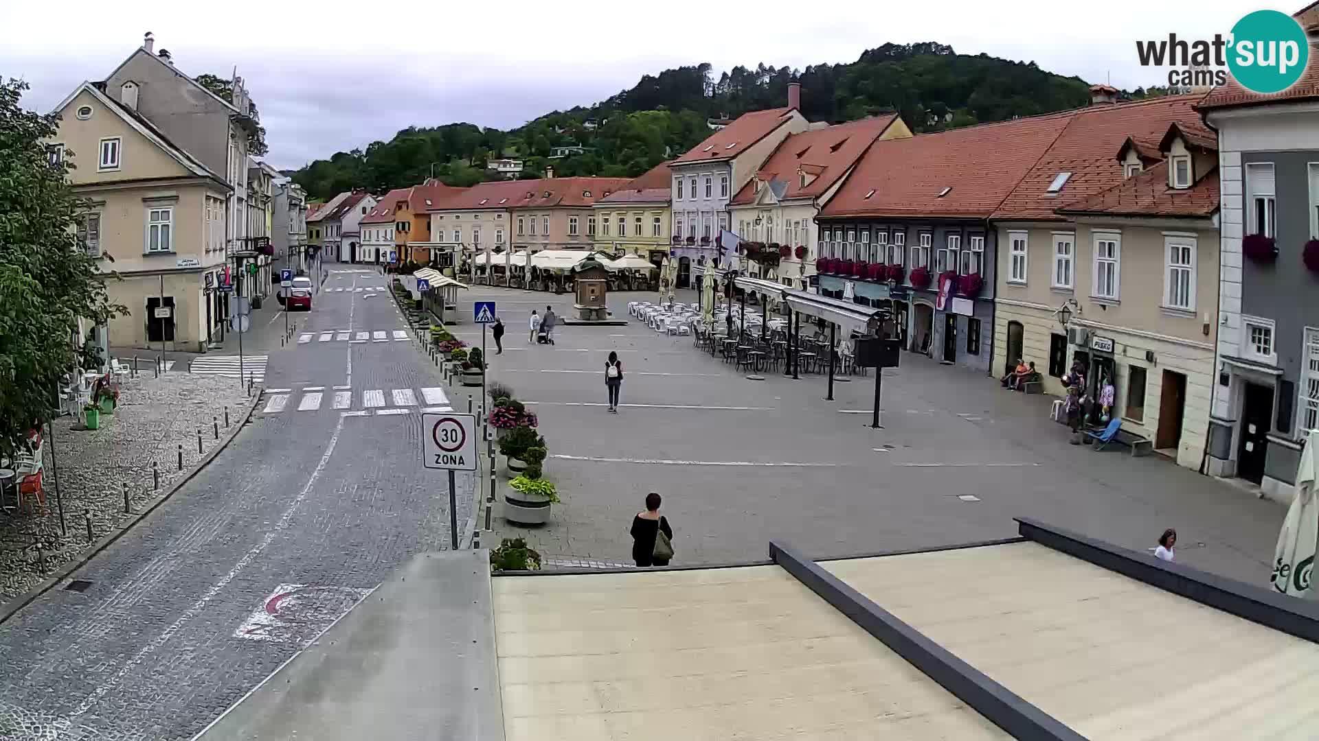 Samobor – Place centrale dédié au roi Tomislav